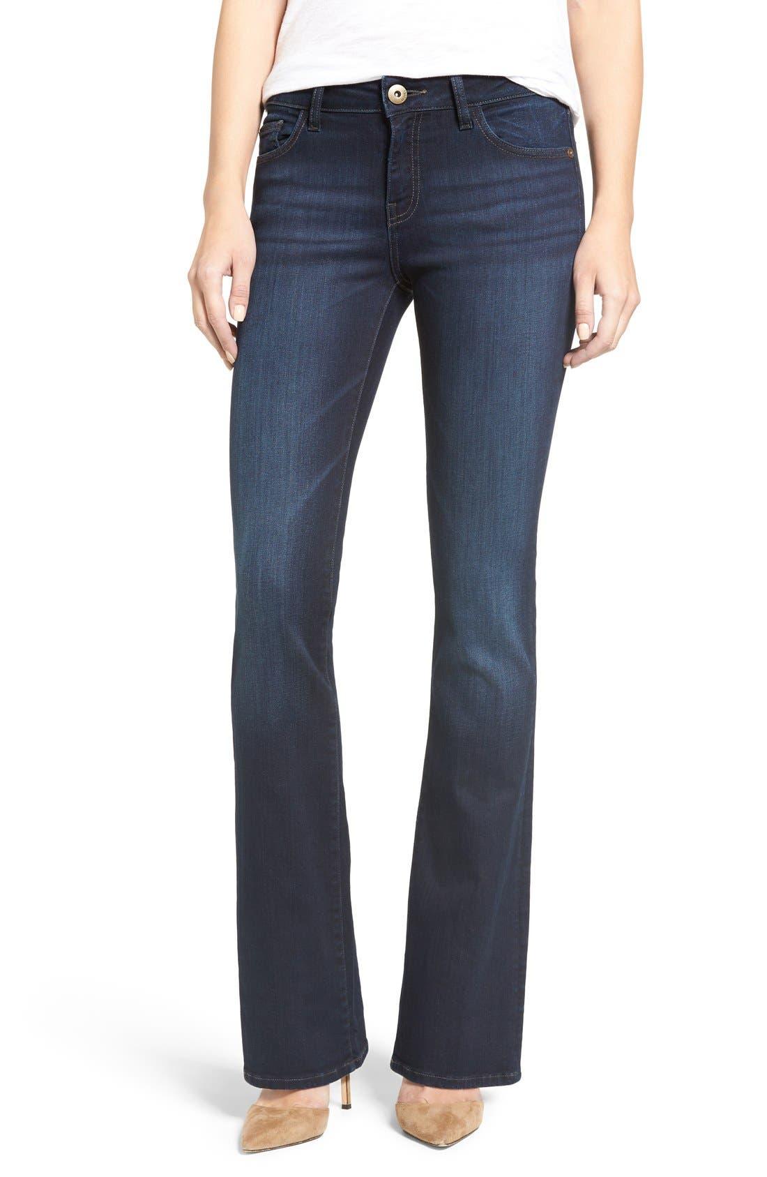 DL1961, 'Bridget 33' Bootcut Jeans, Alternate thumbnail 4, color, PEAK