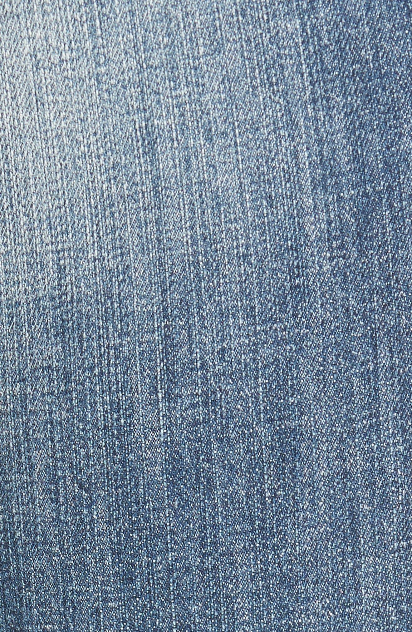 SP BLACK, Destroyed Frayed Hem Jeans, Alternate thumbnail 5, color, 400