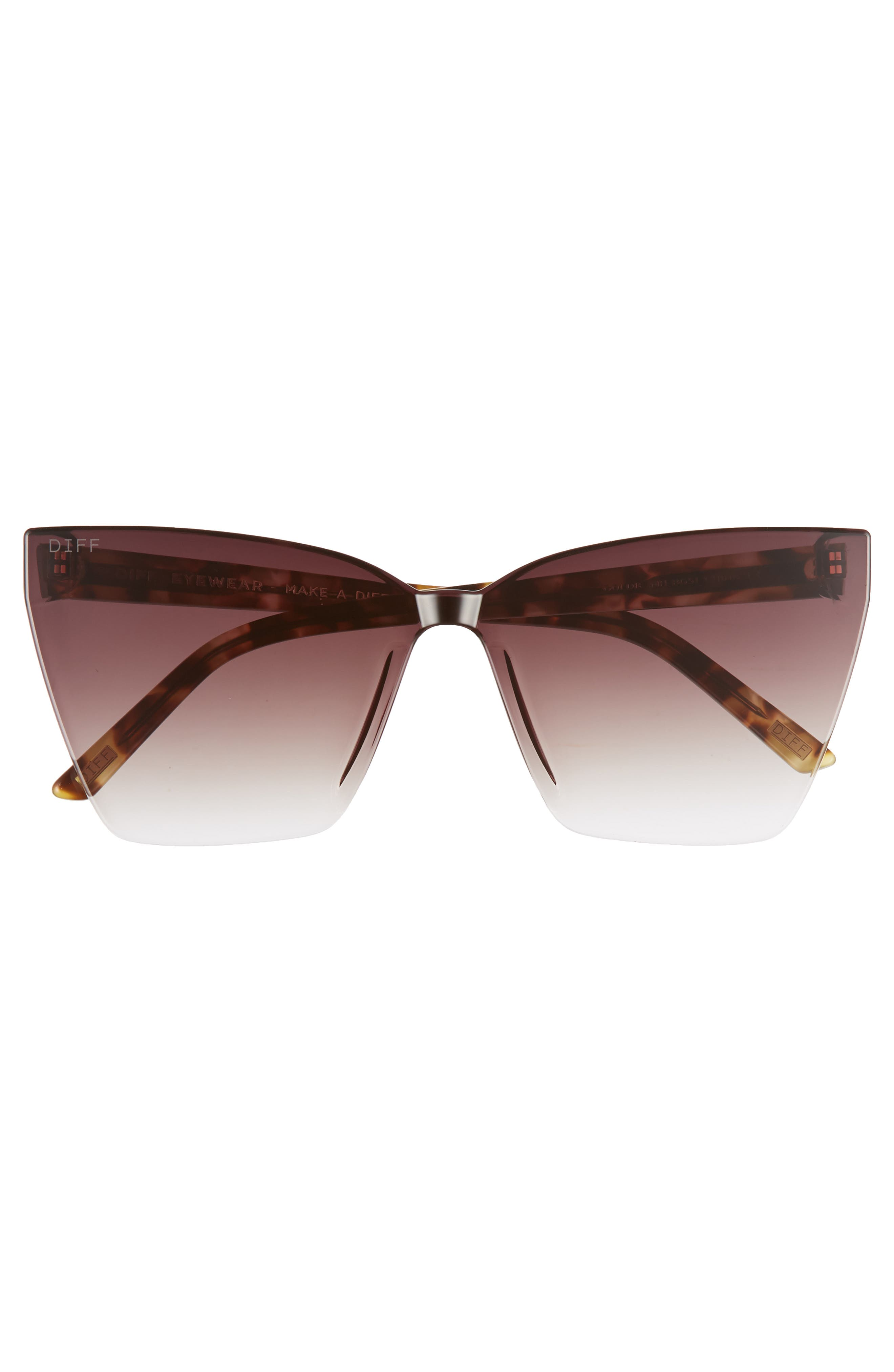 DIFF, Goldie 56mm Cat Eye Sunglasses, Alternate thumbnail 3, color, 200