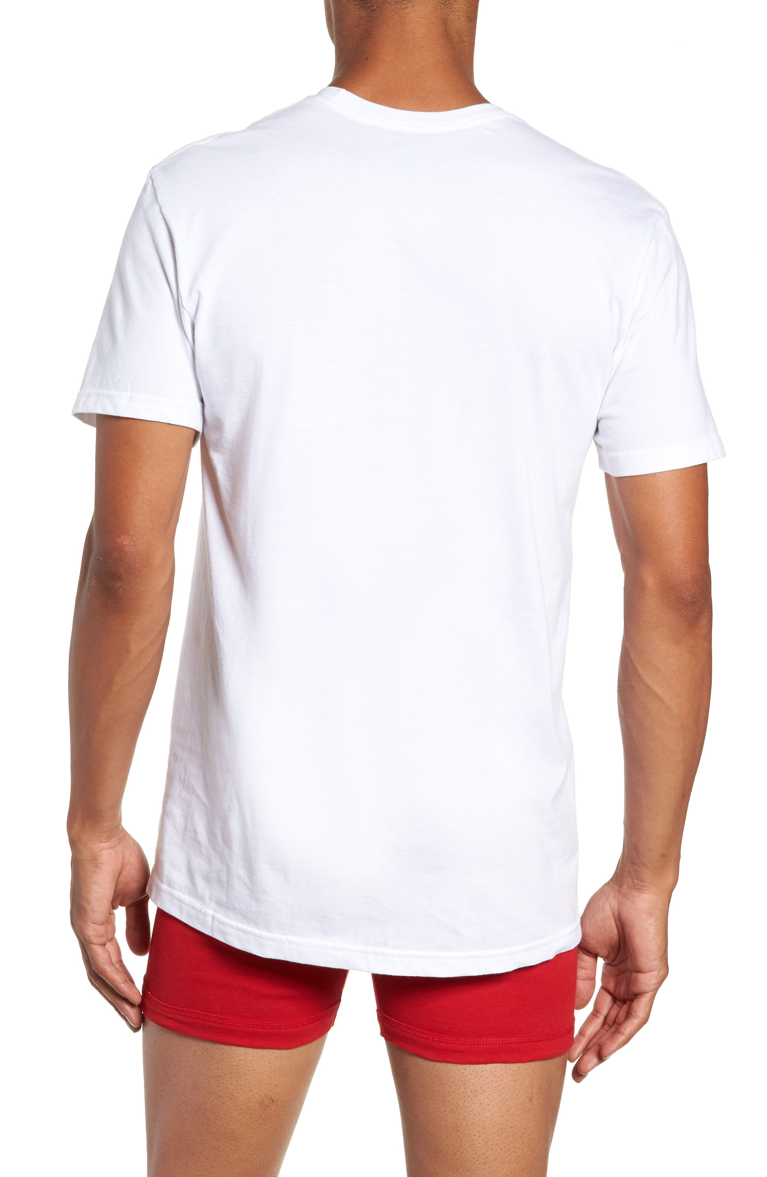 LAUREN RALPH LAUREN, Polo Ralph Lauren 5-Pack Crewneck T-Shirts, Alternate thumbnail 3, color, WHITE