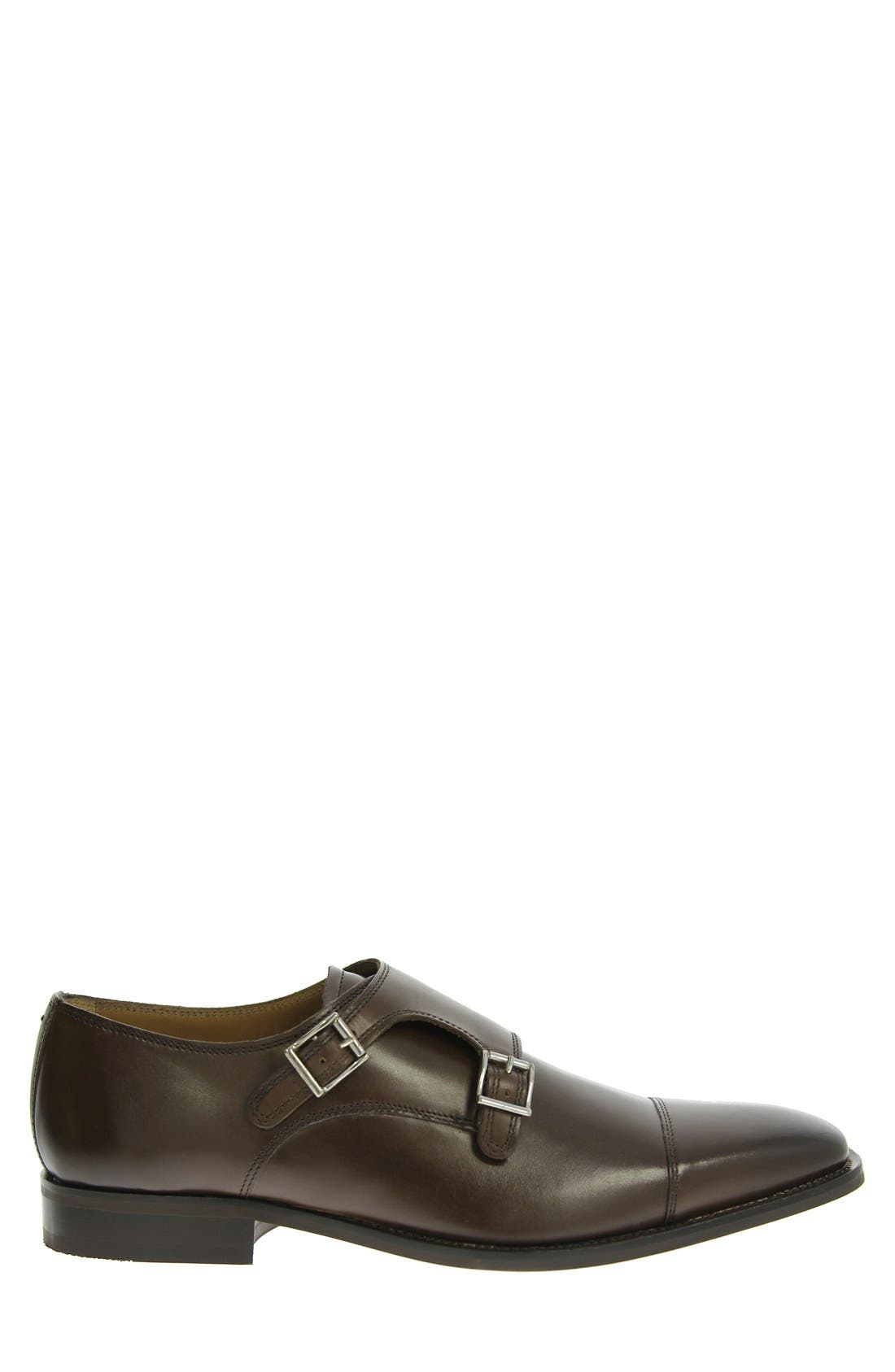 FLORSHEIM, 'Sabato' Double Monk Strap Shoe, Alternate thumbnail 3, color, BROWN