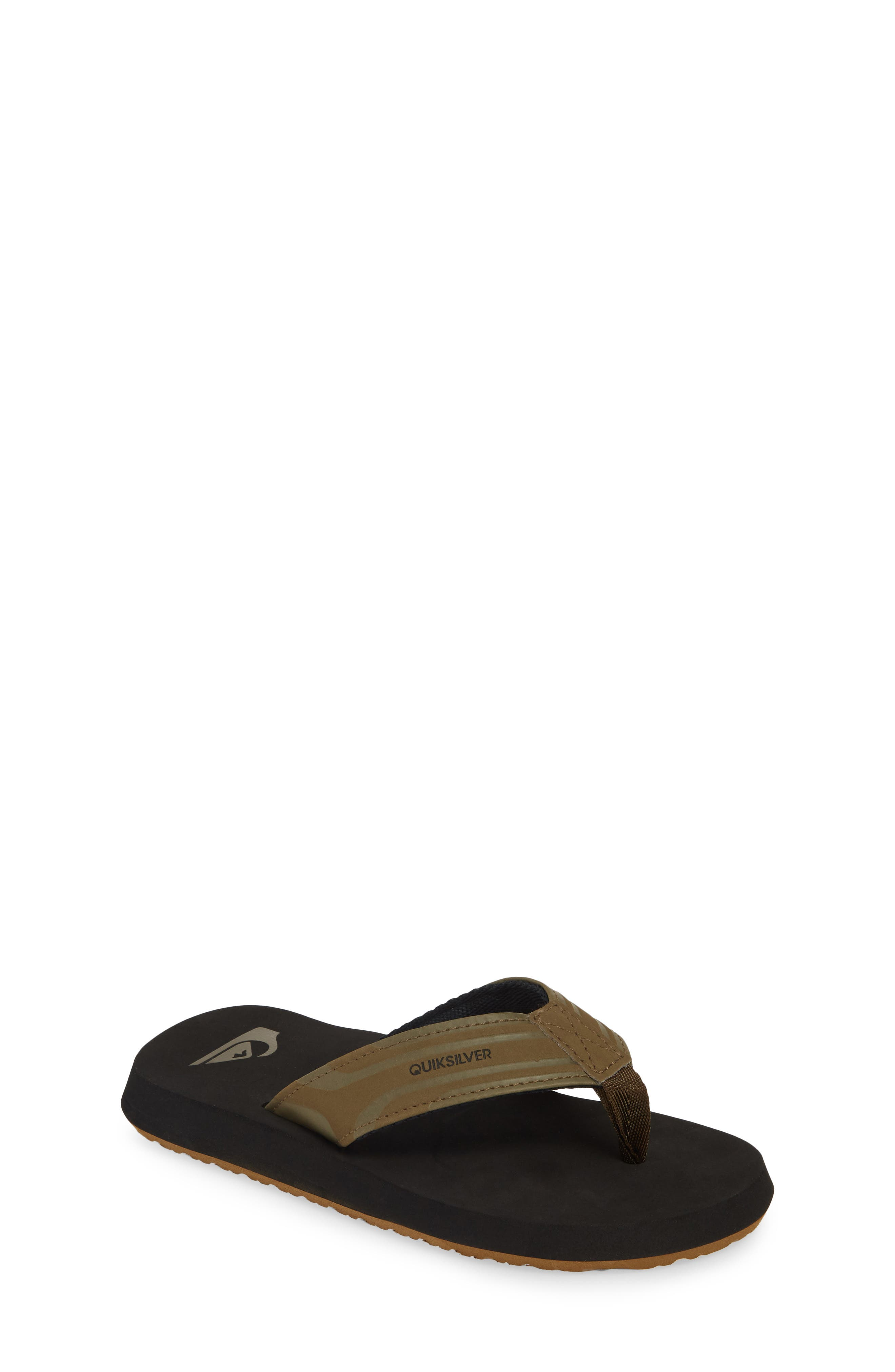 QUIKSILVER Monkey Wrench Flip Flop, Main, color, TAN