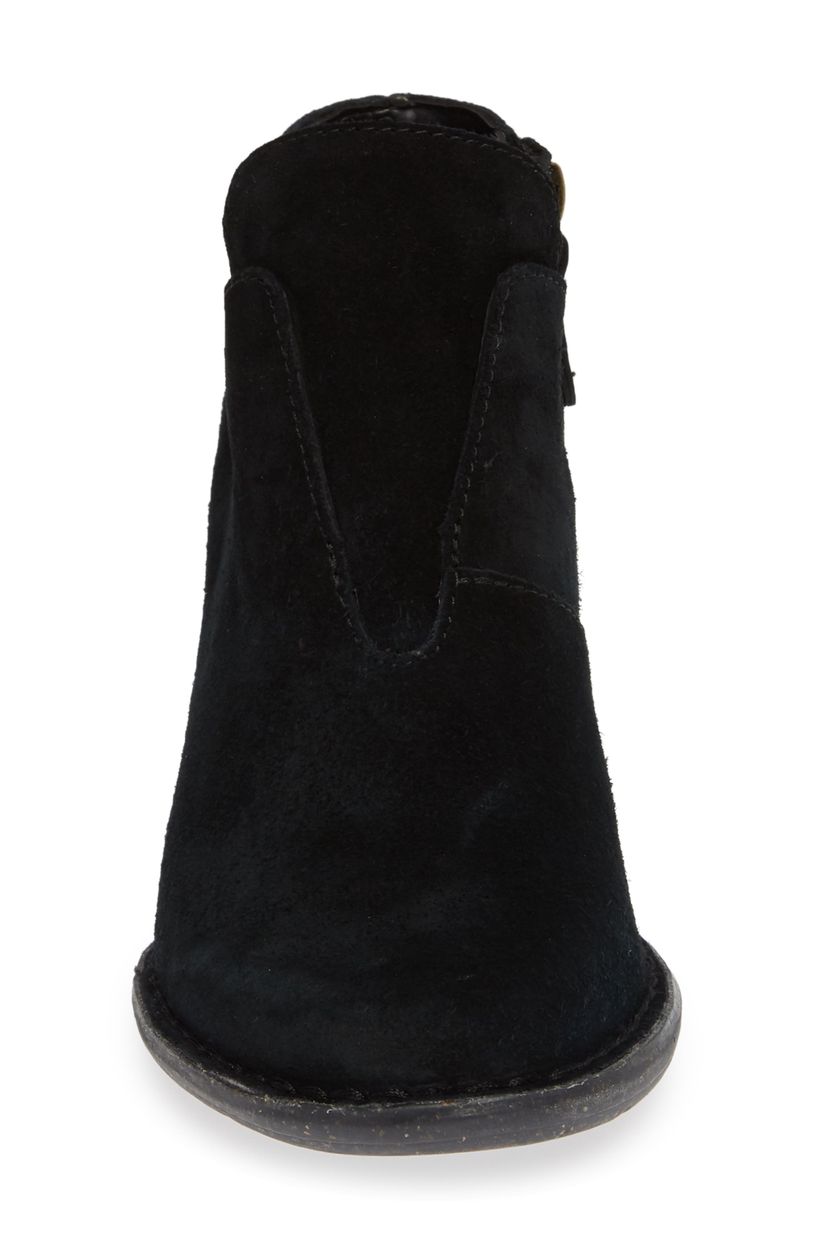 CLARKS<SUP>®</SUP>, Carleta York Bootie, Alternate thumbnail 4, color, BLACK SUEDE