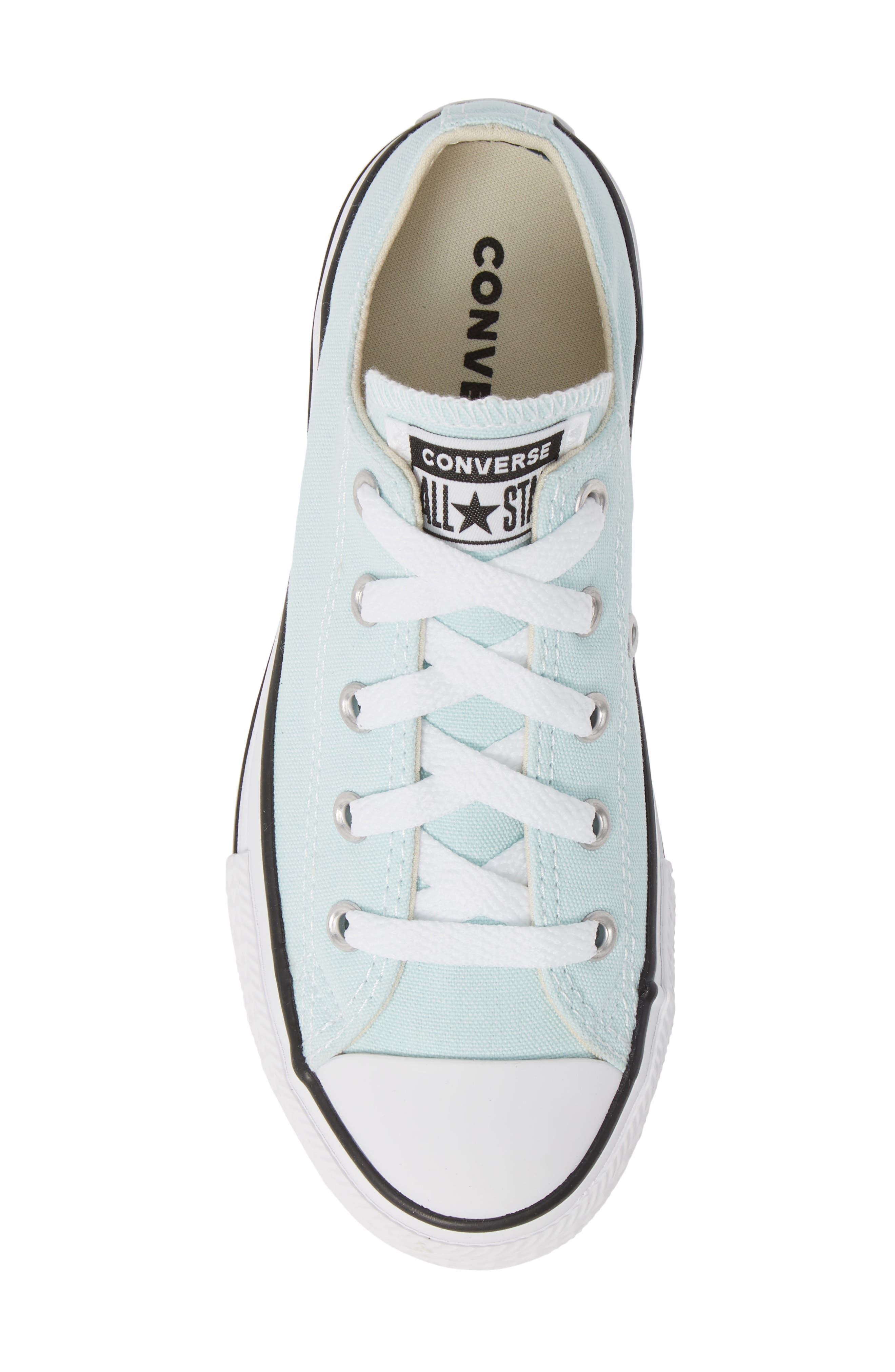 CONVERSE, Chuck Taylor<sup>®</sup> Sneaker, Alternate thumbnail 5, color, TEAL TINT/ IVORY/ WHITE