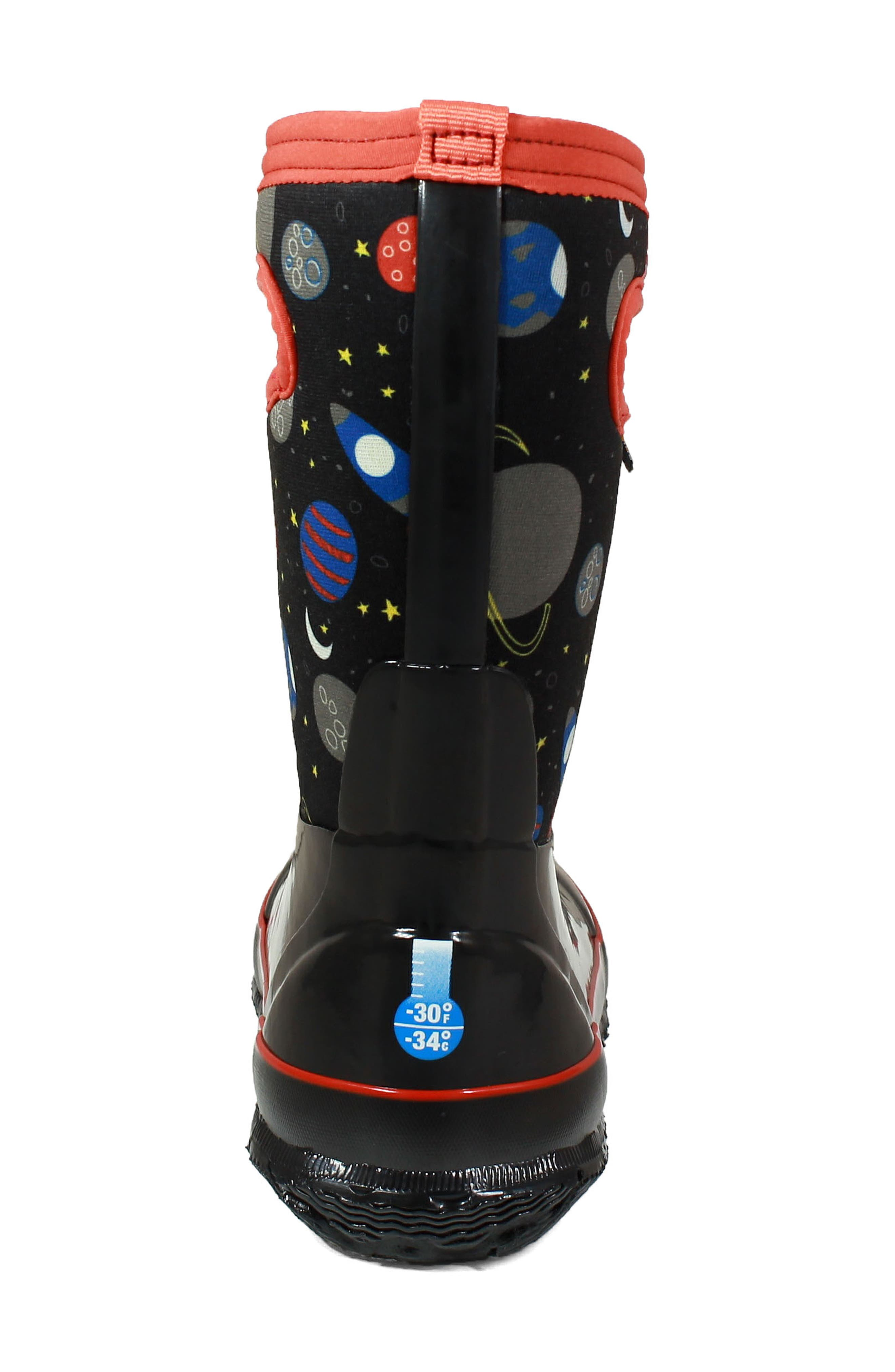 BOGS, Classic Space Insulationed Waterproof Rain Boot, Alternate thumbnail 6, color, 009