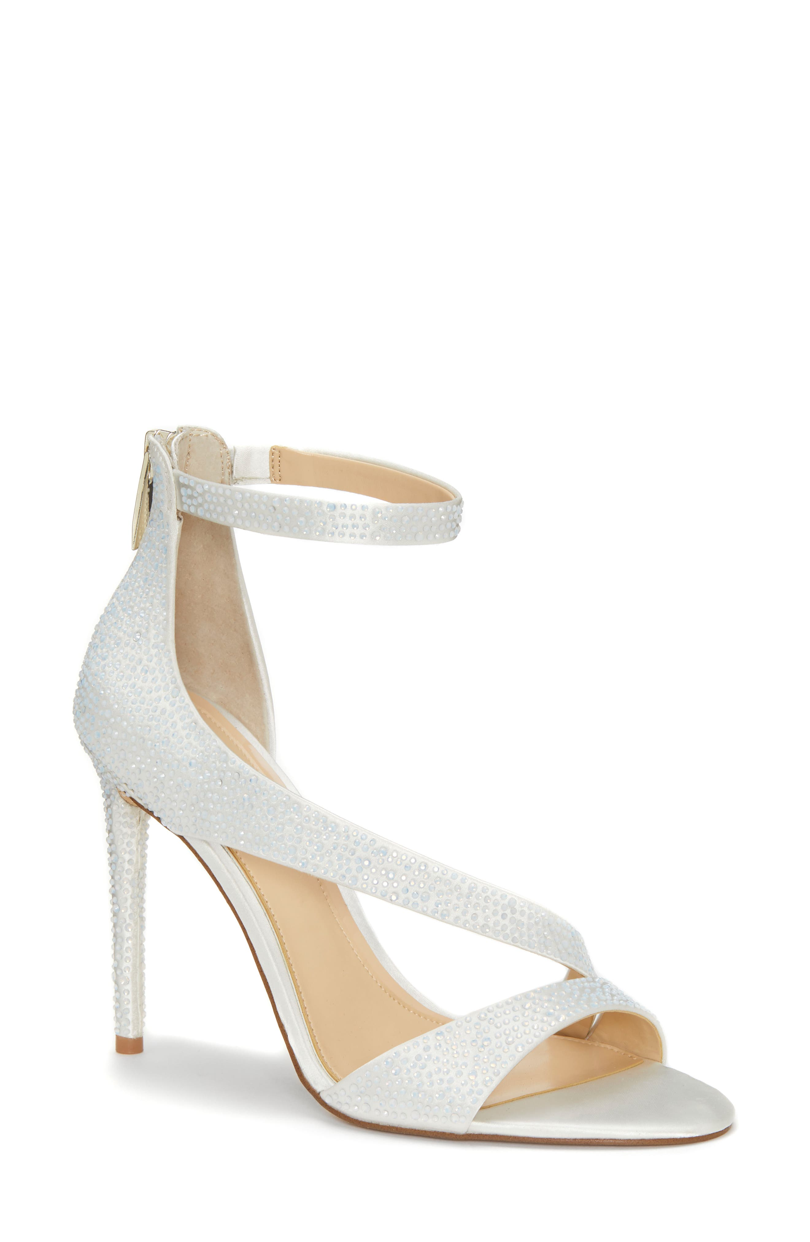 IMAGINE BY VINCE CAMUTO Floral Strappy Sandal, Main, color, PURE WHITE SATIN