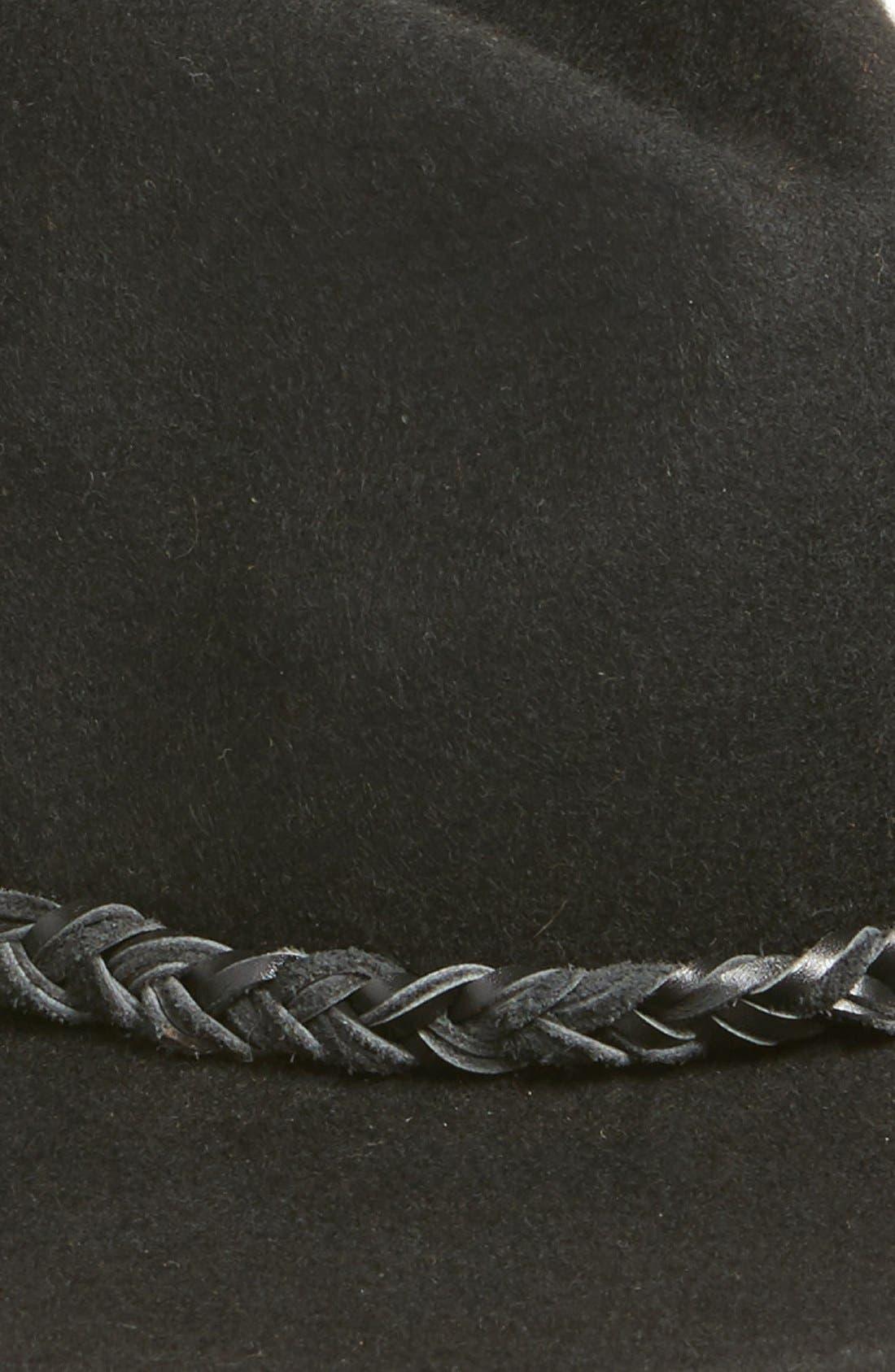 TREASURE & BOND, Treasure&Bond Wide Brim Wool Felt Panama, Alternate thumbnail 2, color, 001