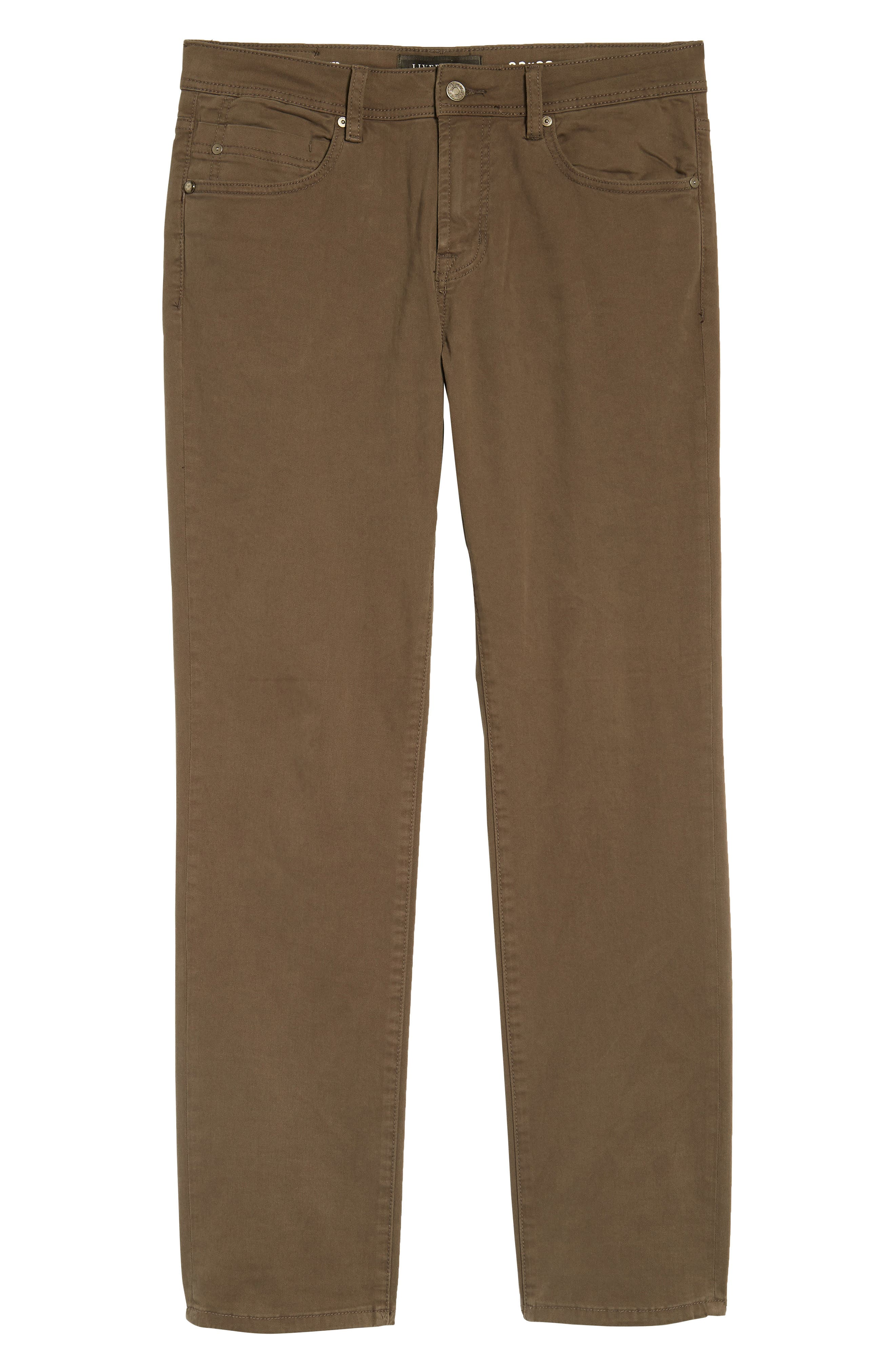 LIVERPOOL, Regent Relaxed Straight Leg Twill Pants, Alternate thumbnail 7, color, DEEP EARTH