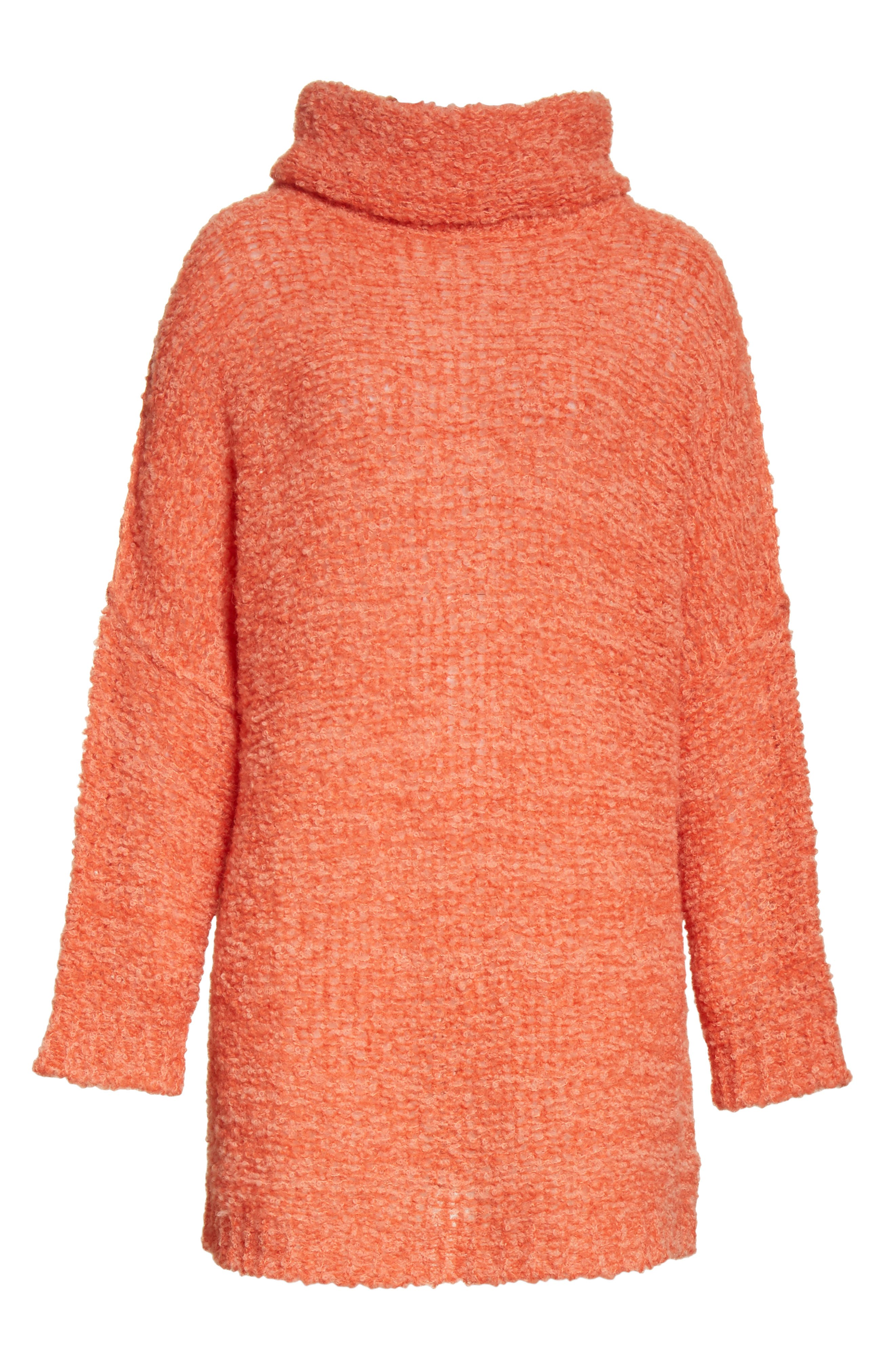 FREE PEOPLE, 'She's All That' Knit Turtleneck Sweater, Alternate thumbnail 6, color, 800