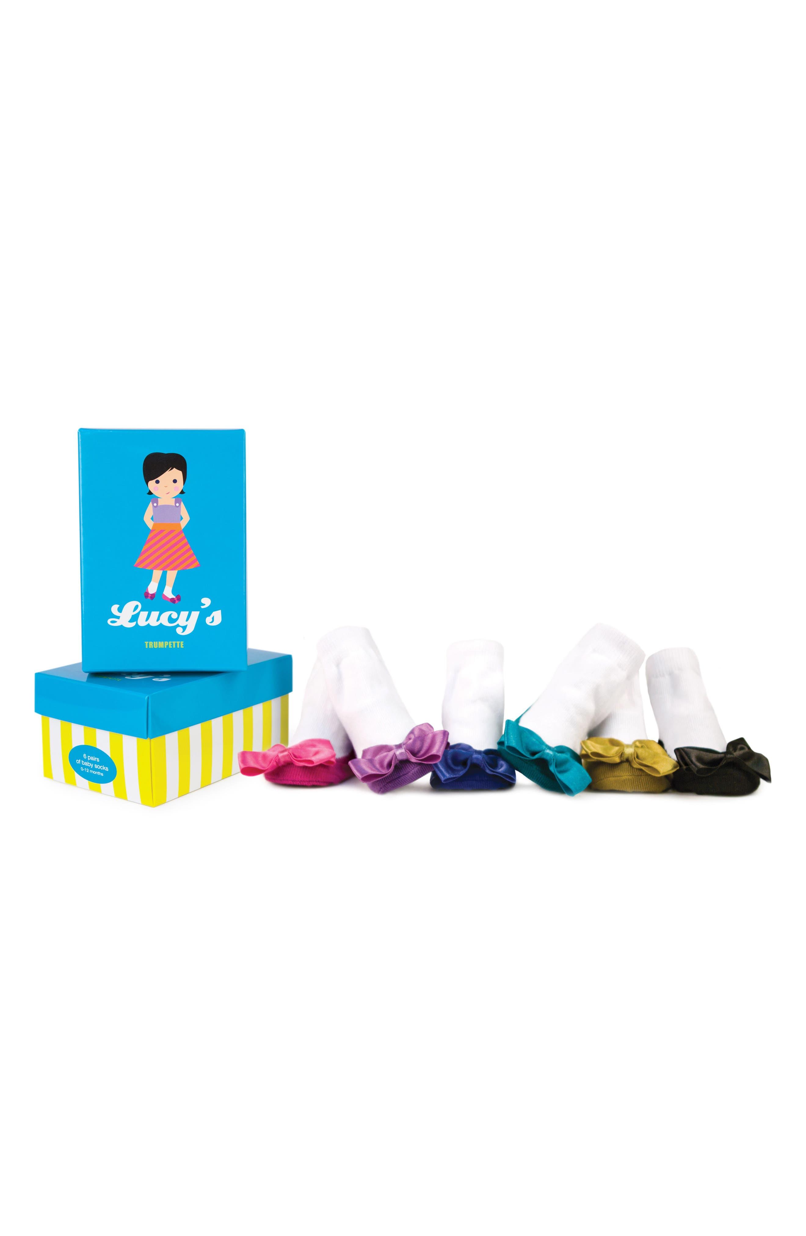 TRUMPETTE, 'Ballerina' Socks Gift Set, Alternate thumbnail 2, color, LUCY