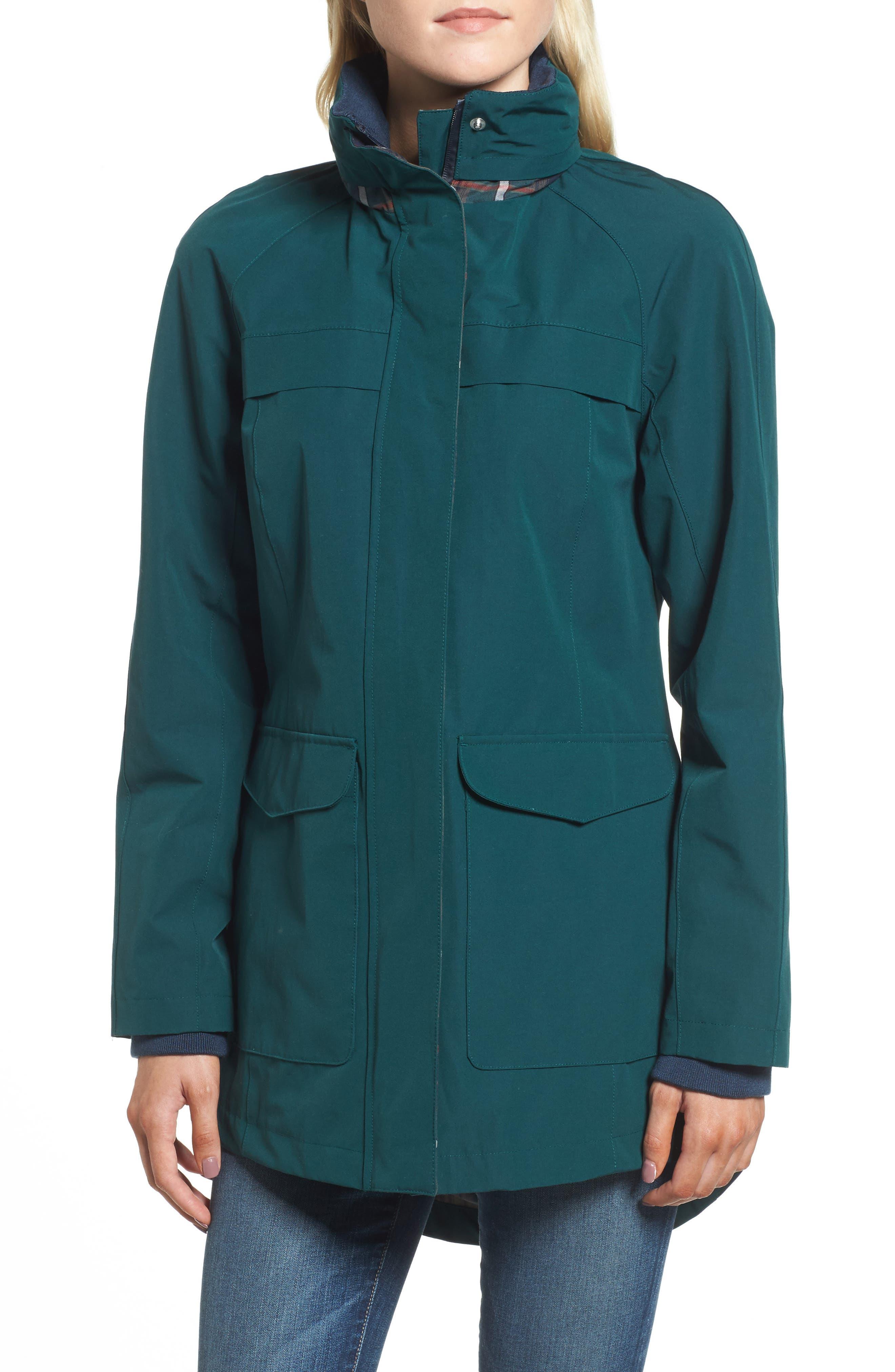PENDLETON, Hooded Raincoat, Alternate thumbnail 5, color, 331