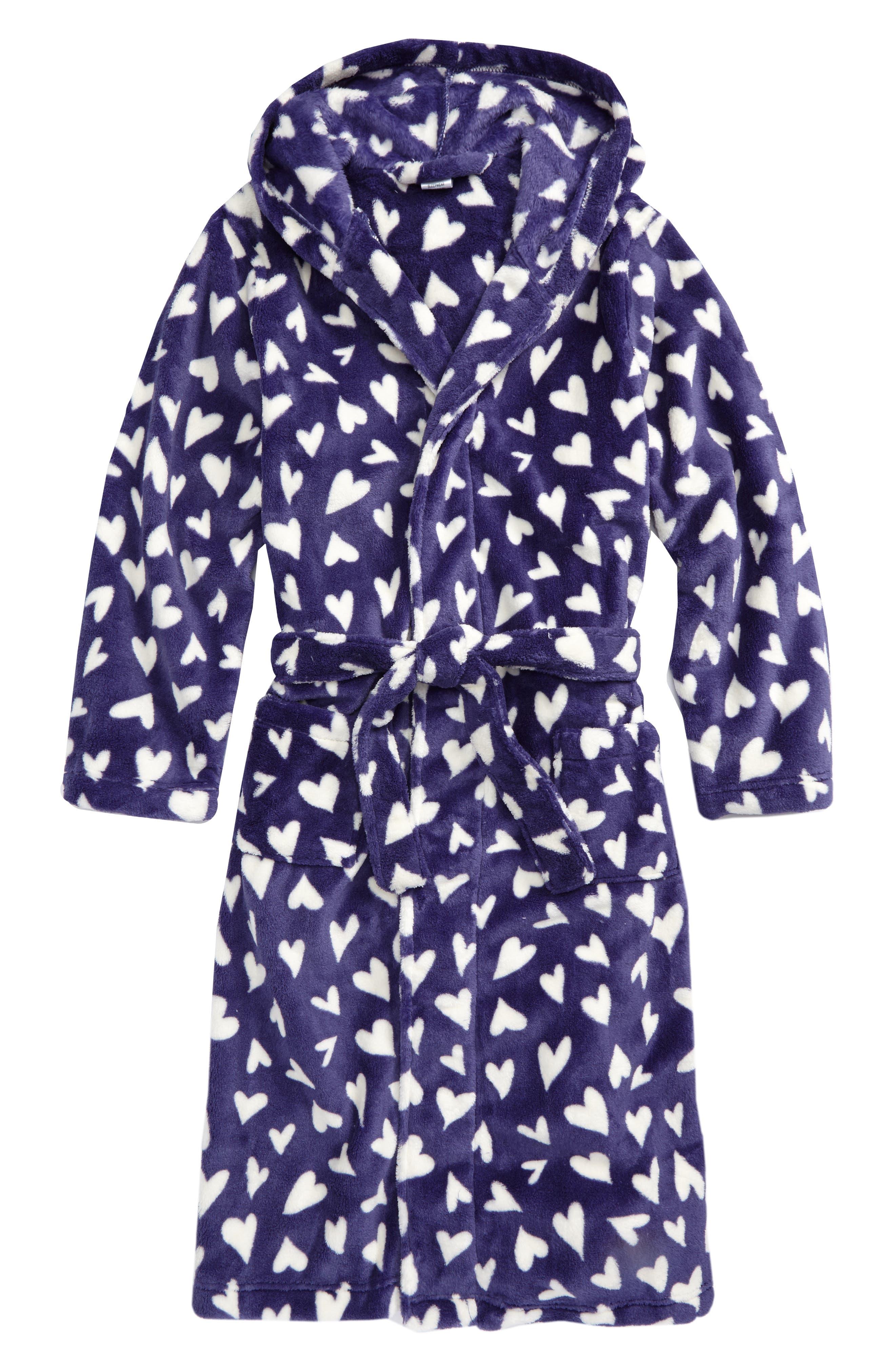 TUCKER + TATE Hooded Fleece Robe, Main, color, 410
