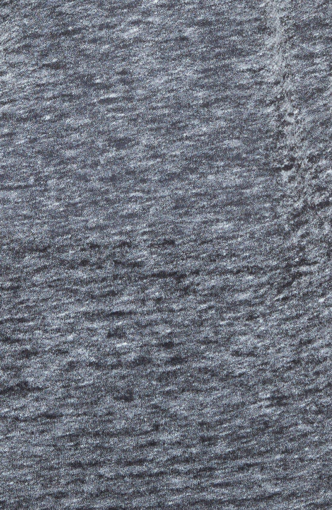 SEJOUR, Sheer Jersey V-Neck Tee, Alternate thumbnail 2, color, 001