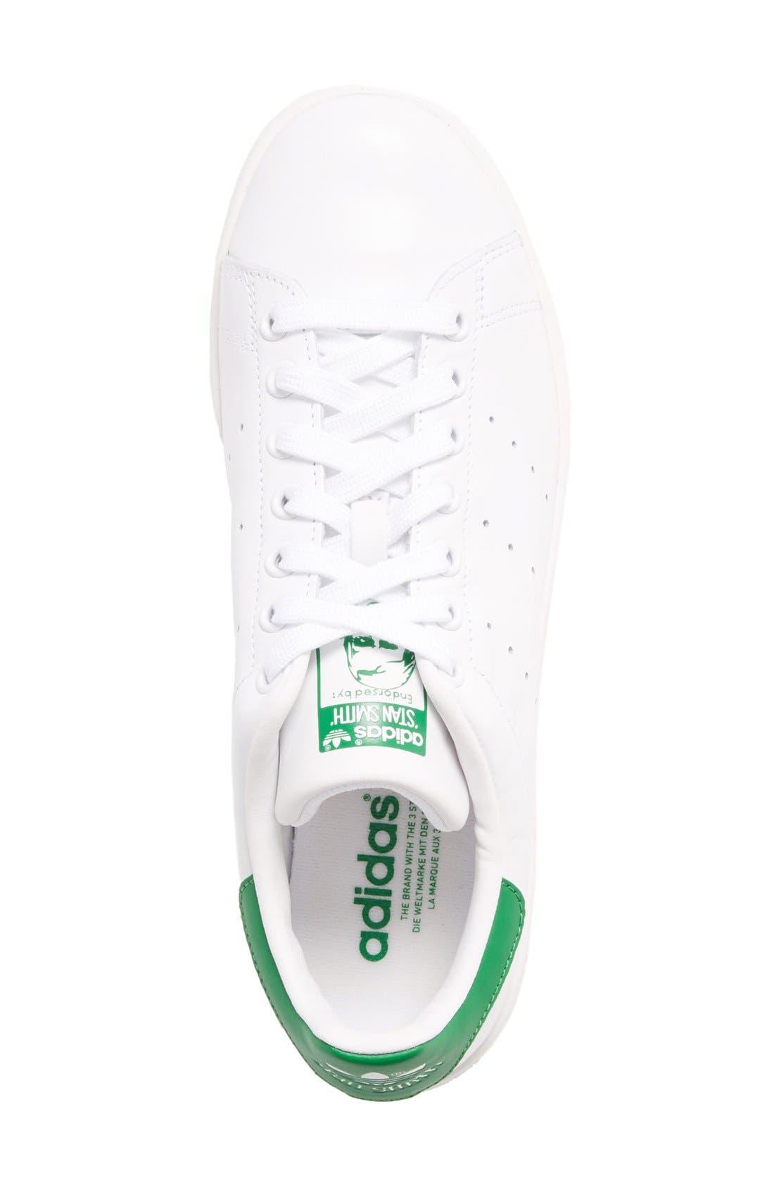ADIDAS, Stan Smith Sneaker, Alternate thumbnail 3, color, WHITE/ FAIRWAY