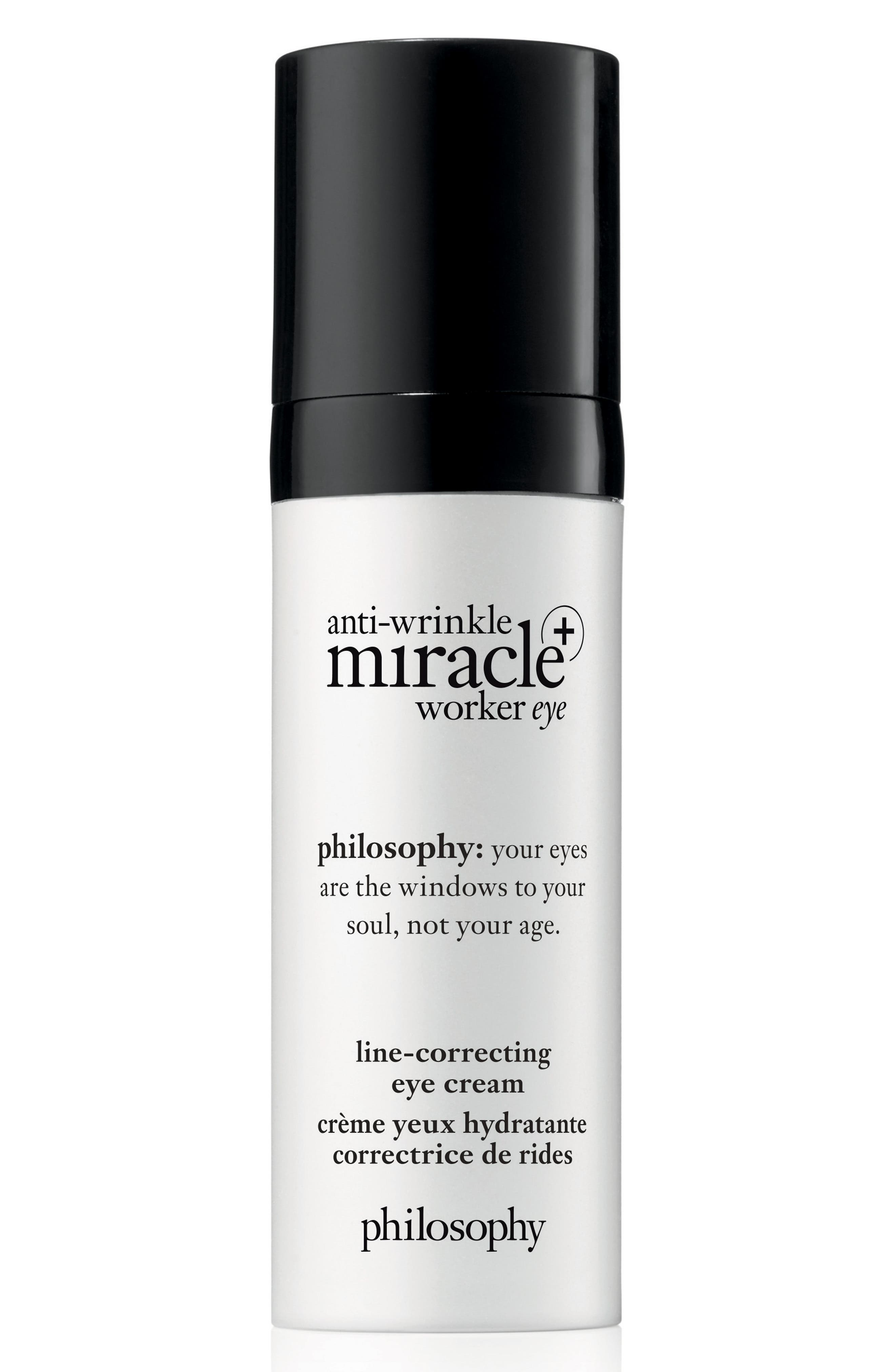 PHILOSOPHY, anti-wrinkle miracle worker eye + line correcting eye cream, Main thumbnail 1, color, NO COLOR