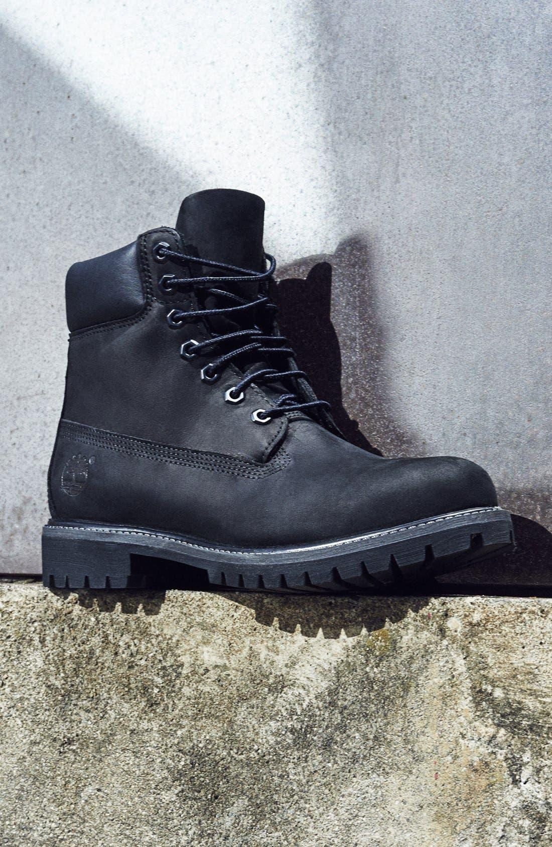 TIMBERLAND, Six Inch Classic Waterproof Boots - Premium Waterproof Boot, Alternate thumbnail 5, color, BLACK