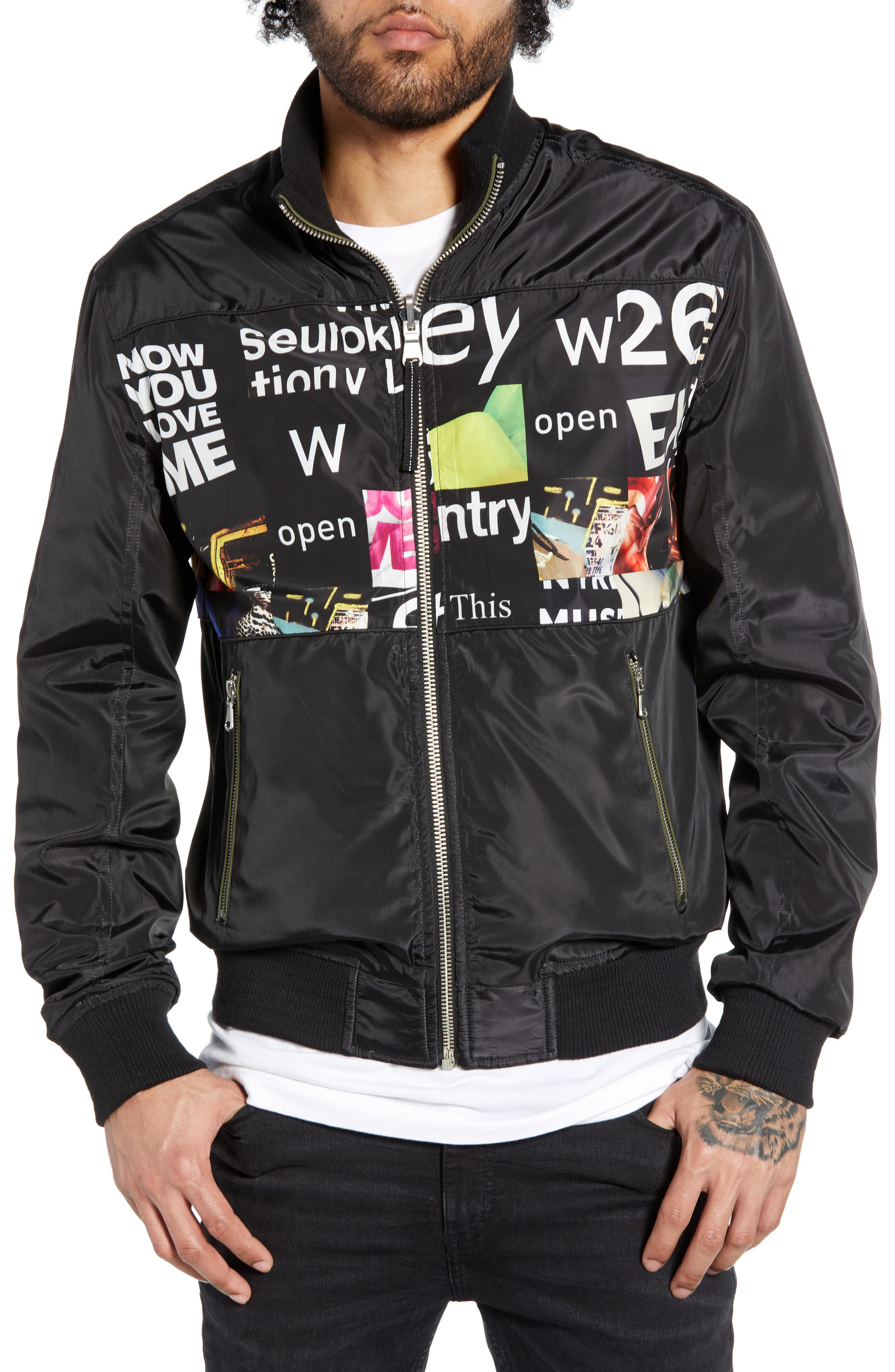 THE VERY WARM, Lucian Reversible Bomber Jacket, Alternate thumbnail 2, color, ARMY GREEN