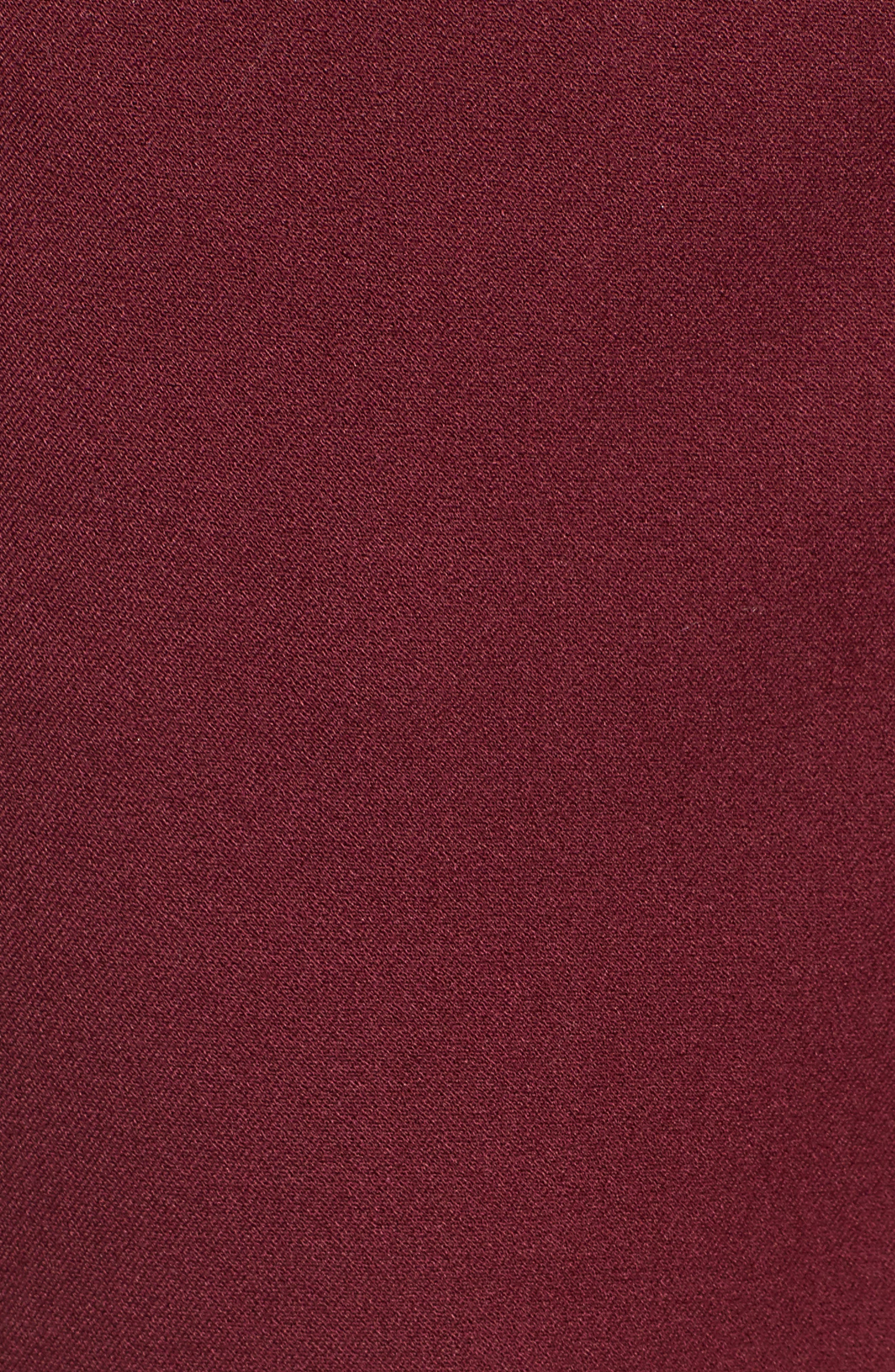 HALOGEN<SUP>®</SUP>, Ankle Pants, Alternate thumbnail 6, color, RED TANNIN
