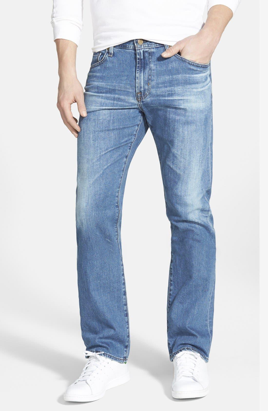 AG, 'Protégé' Straight Leg Jeans, Main thumbnail 1, color, 428