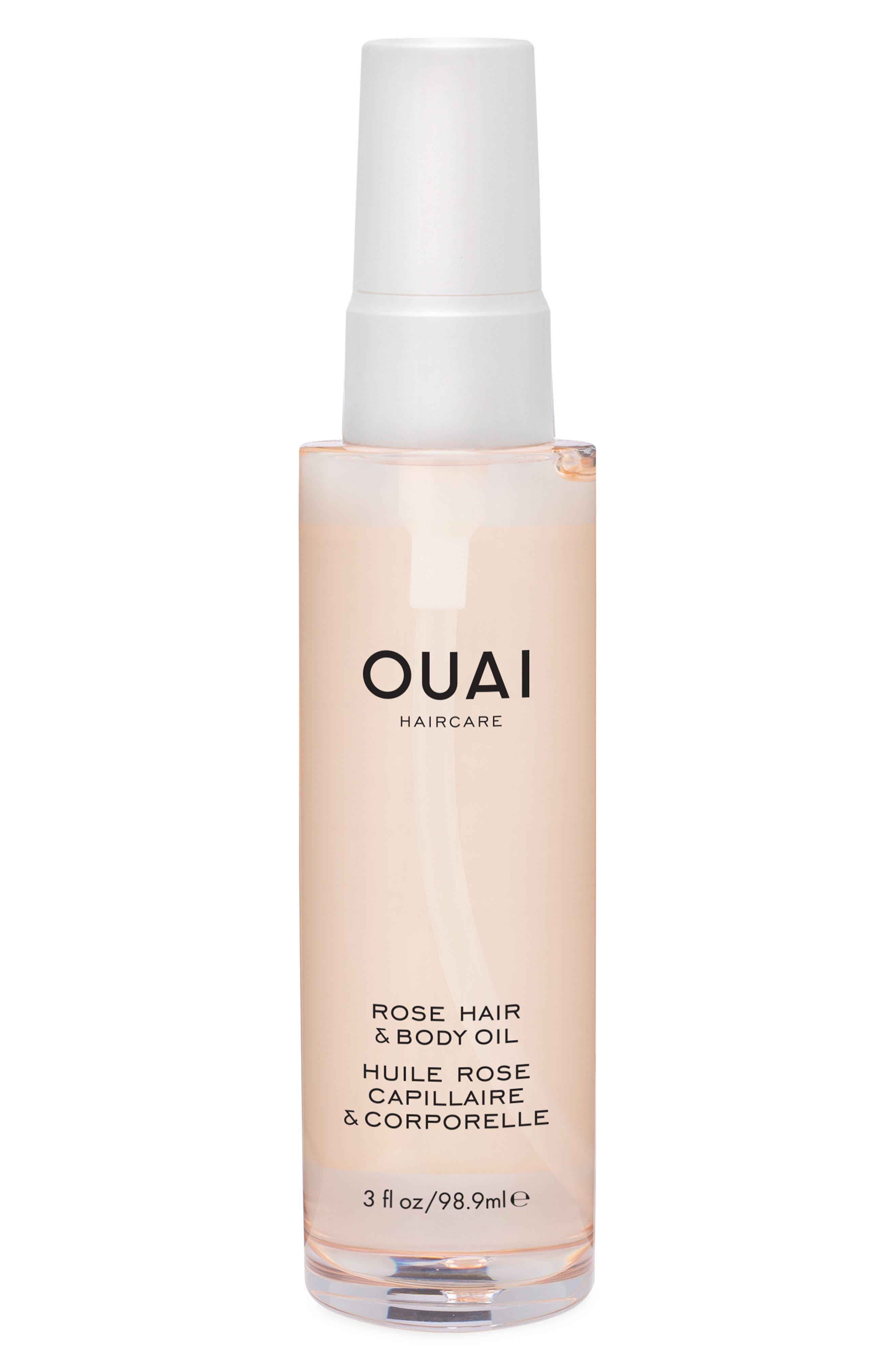 OUAI, Rose Hair & Body Oil, Main thumbnail 1, color, NO COLOR