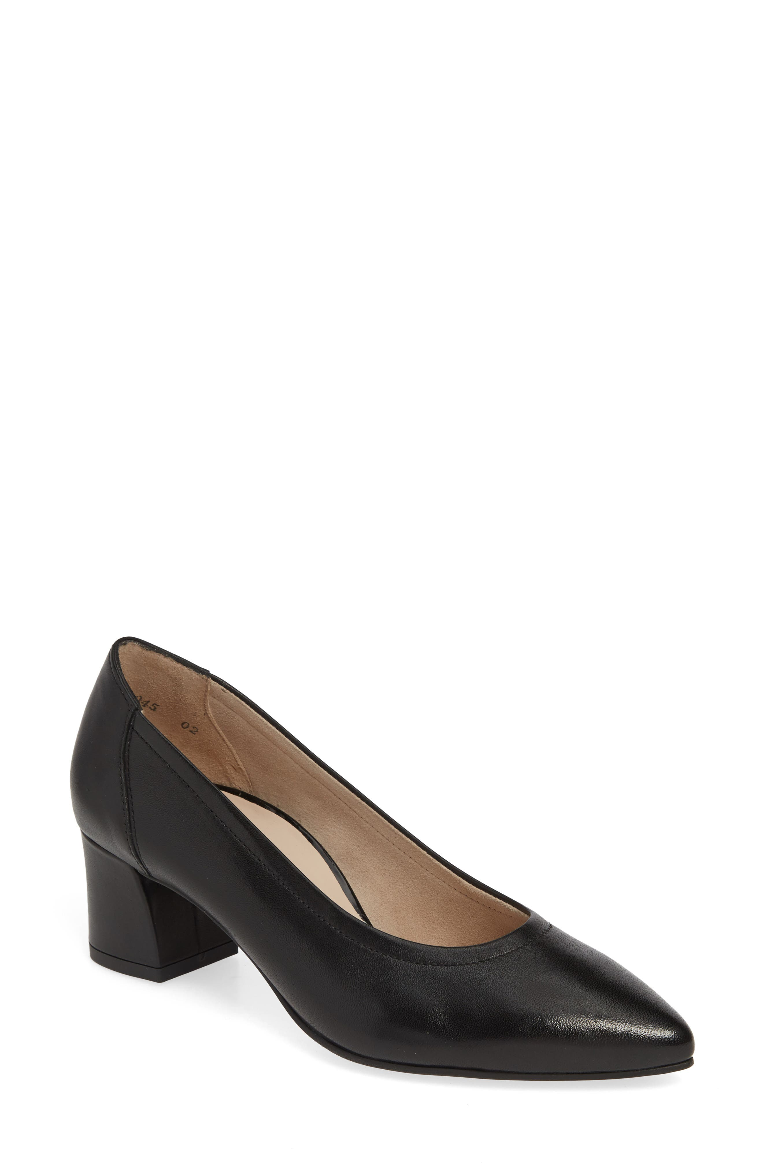 PAUL GREEN Tammy Pump, Main, color, BLACK SOFT NAPPA