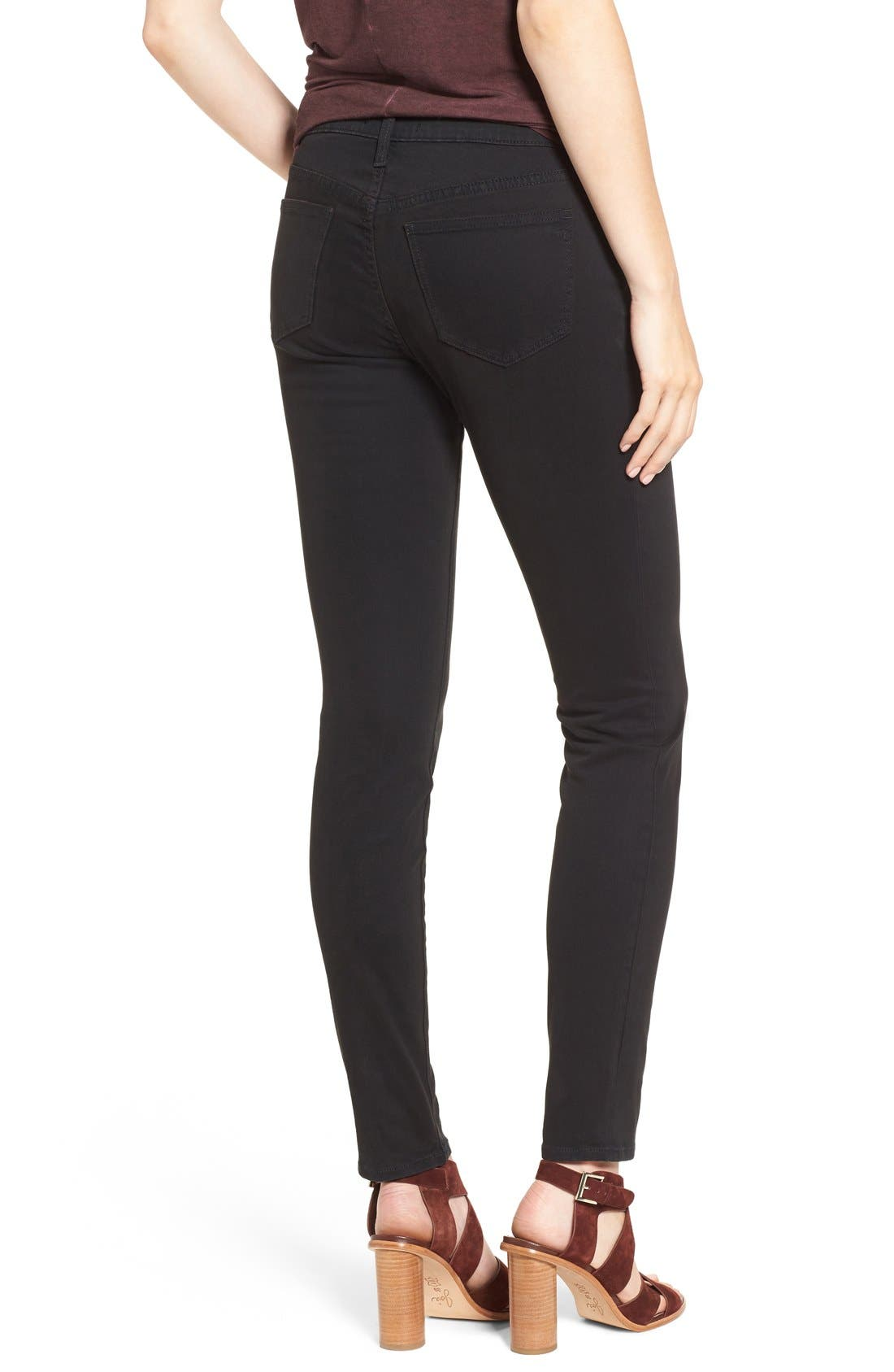 MADEWELL, Garment Dyed Skinny Jeans, Alternate thumbnail 3, color, 001