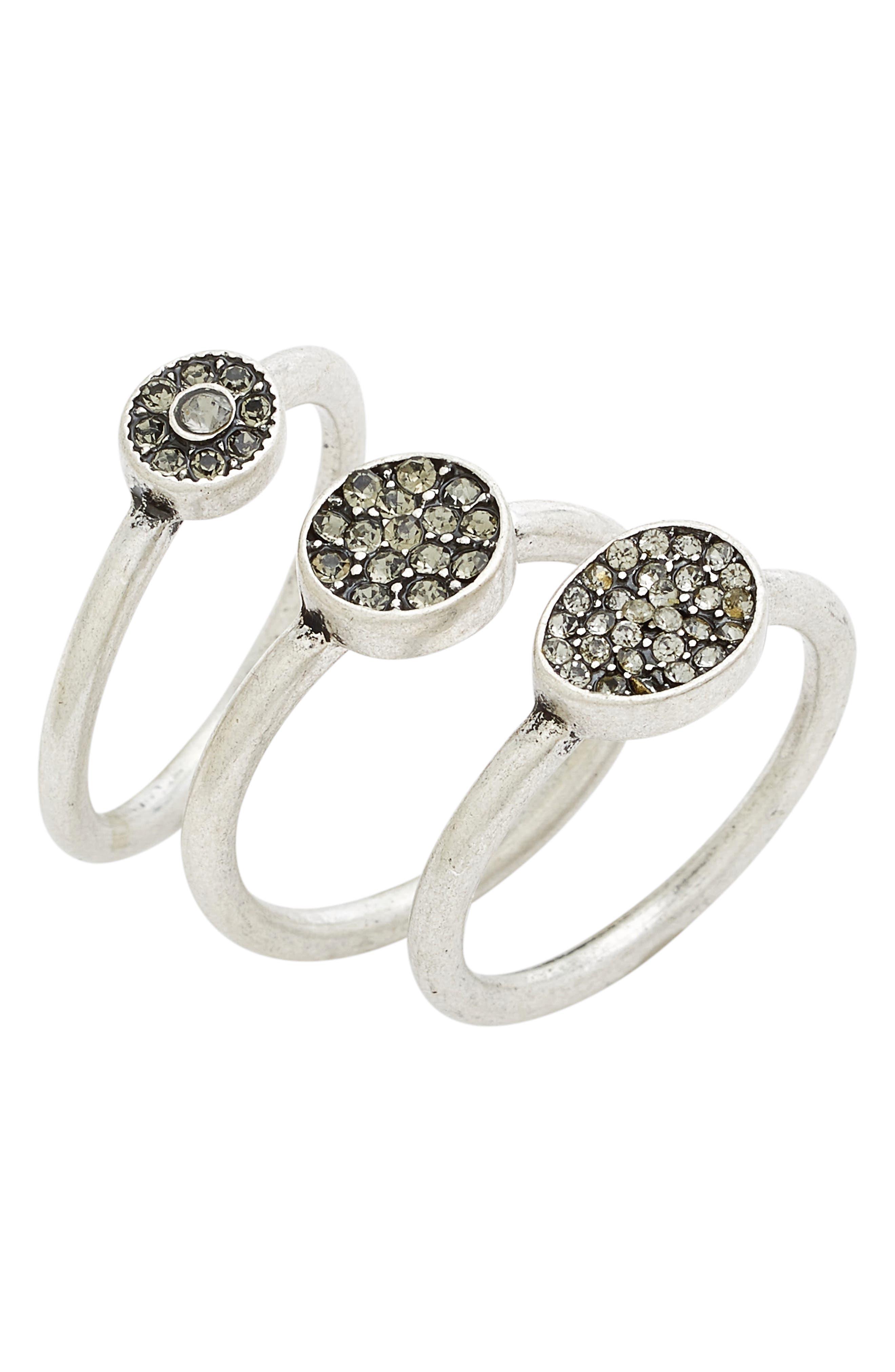 TREASURE & BOND Treasure&Bond Pavé Crystal Rings, Main, color, 040