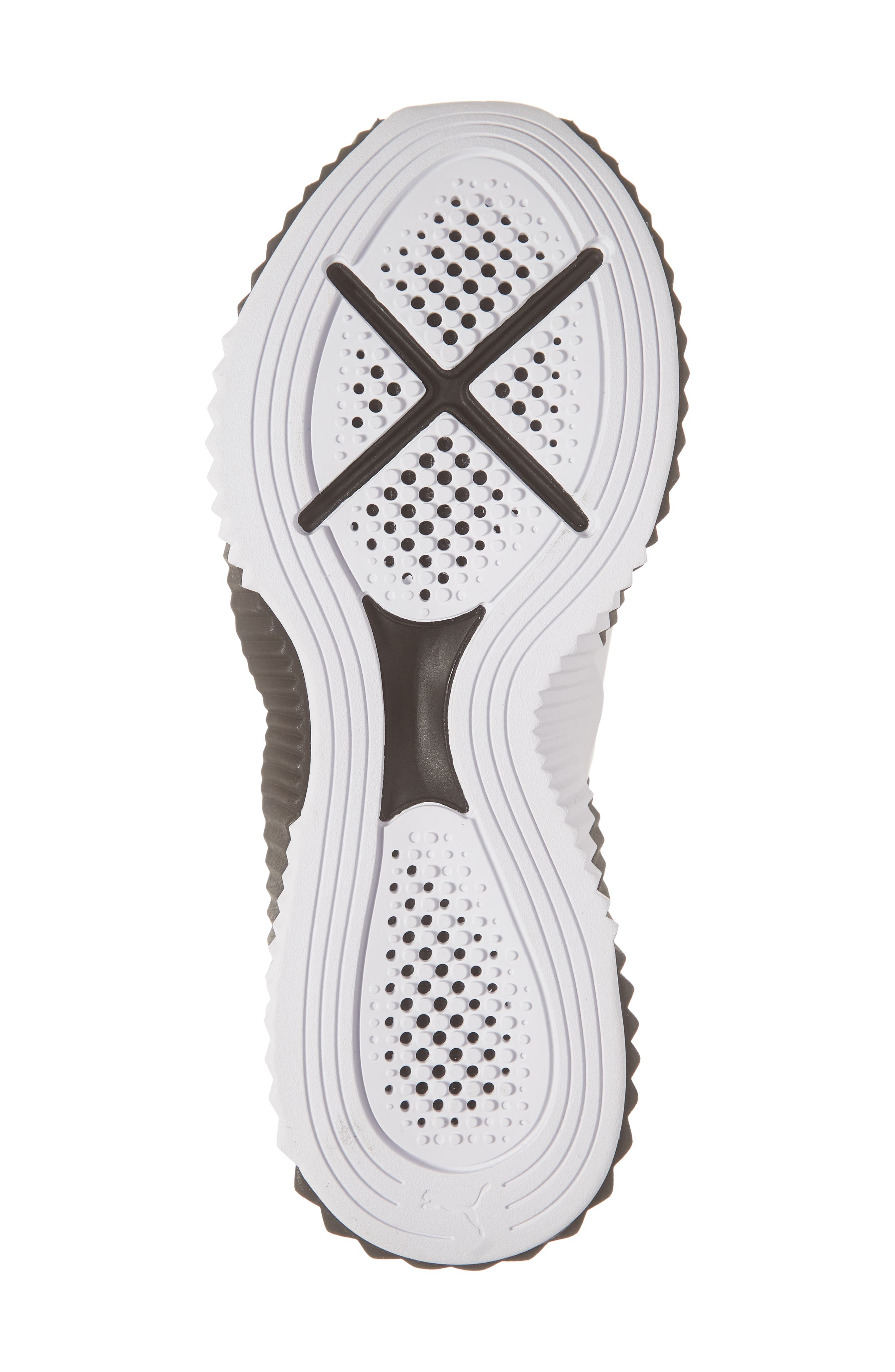 PUMA, Defy Sneaker, Alternate thumbnail 6, color, BLACK/ WHITE