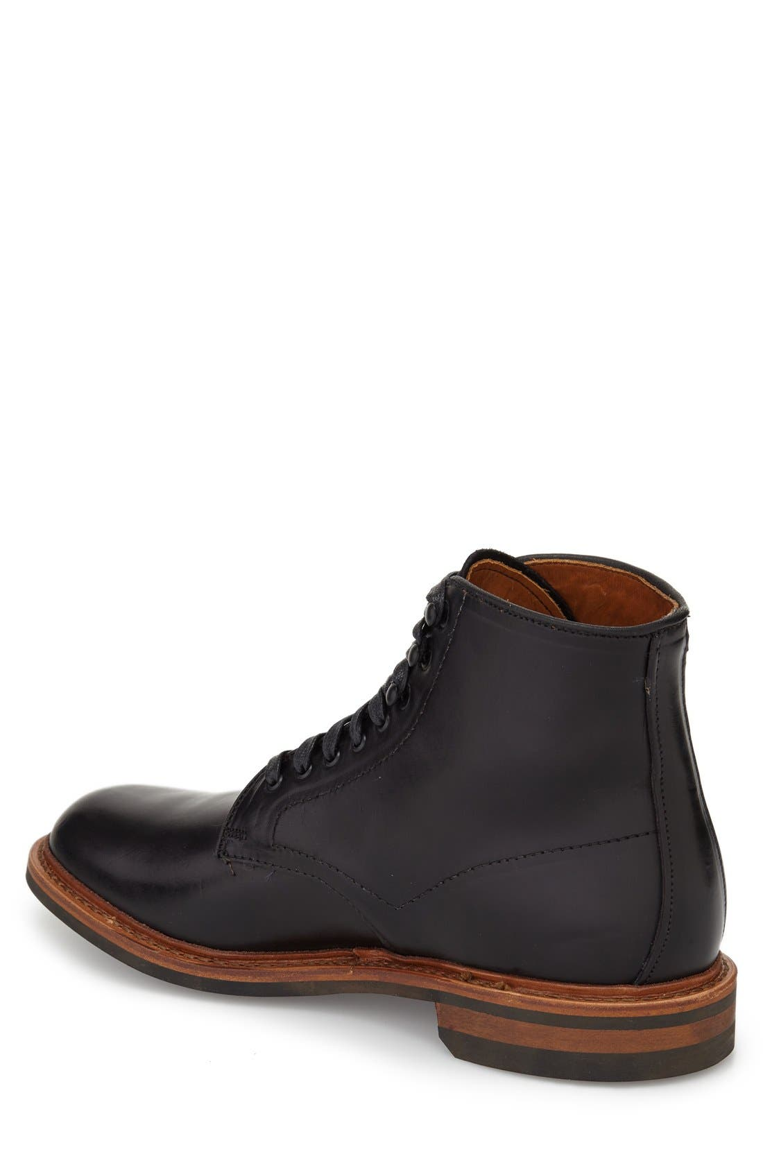 ALLEN EDMONDS, 'Higgins Mill' Plain Toe Boot, Alternate thumbnail 2, color, 001