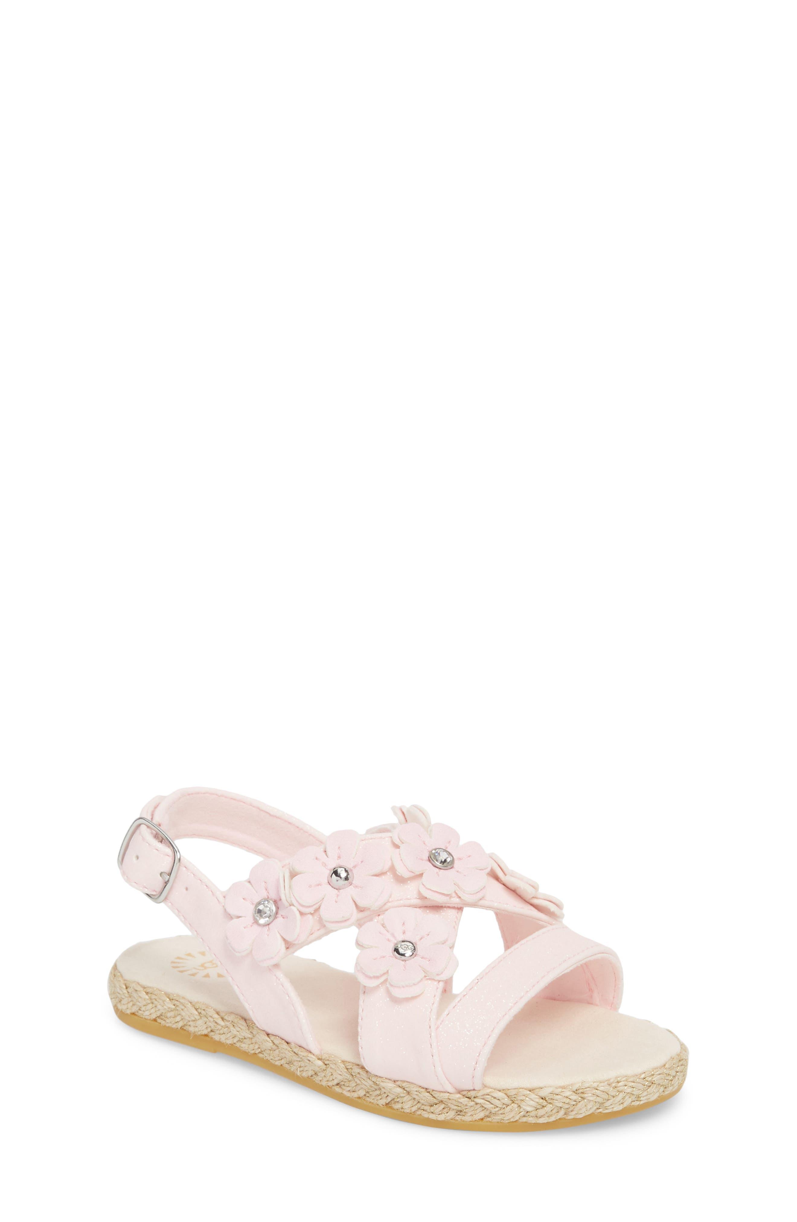 UGG<SUP>®</SUP>, Allairey Sparkles Espadrille Sandal, Main thumbnail 1, color, SEASHELL PINK