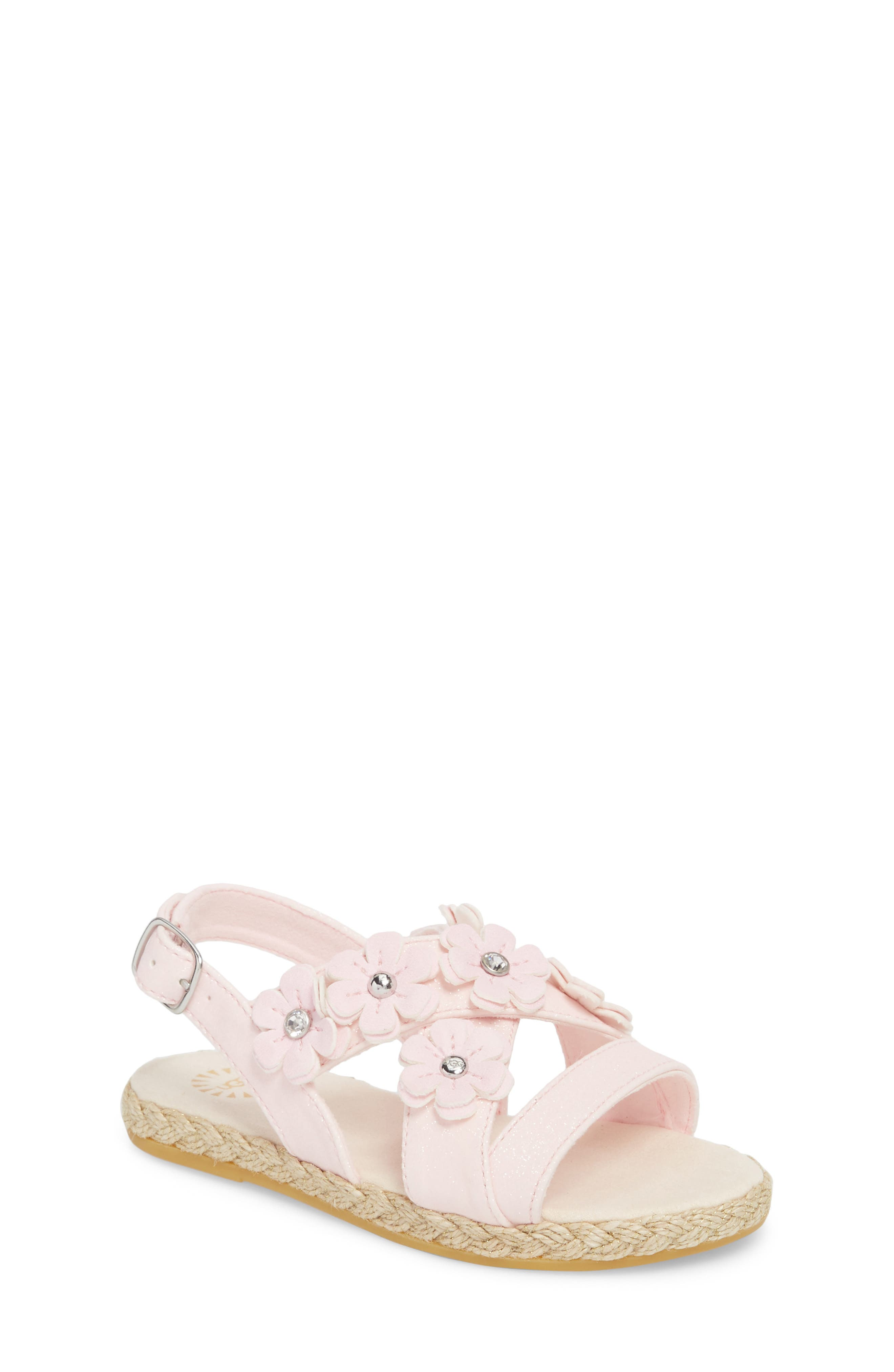UGG<SUP>®</SUP> Allairey Sparkles Espadrille Sandal, Main, color, SEASHELL PINK