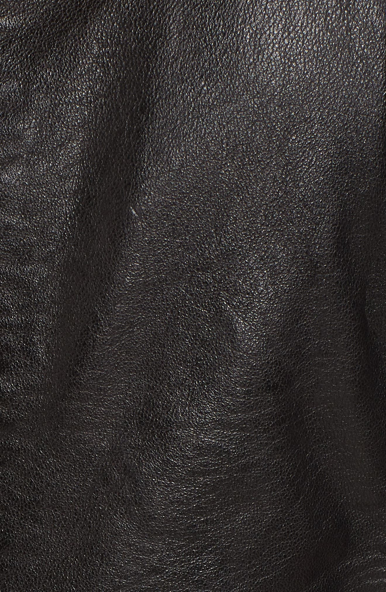 MAURITIUS, Leather Lambskin Leather Moto Jacket, Alternate thumbnail 6, color, 001