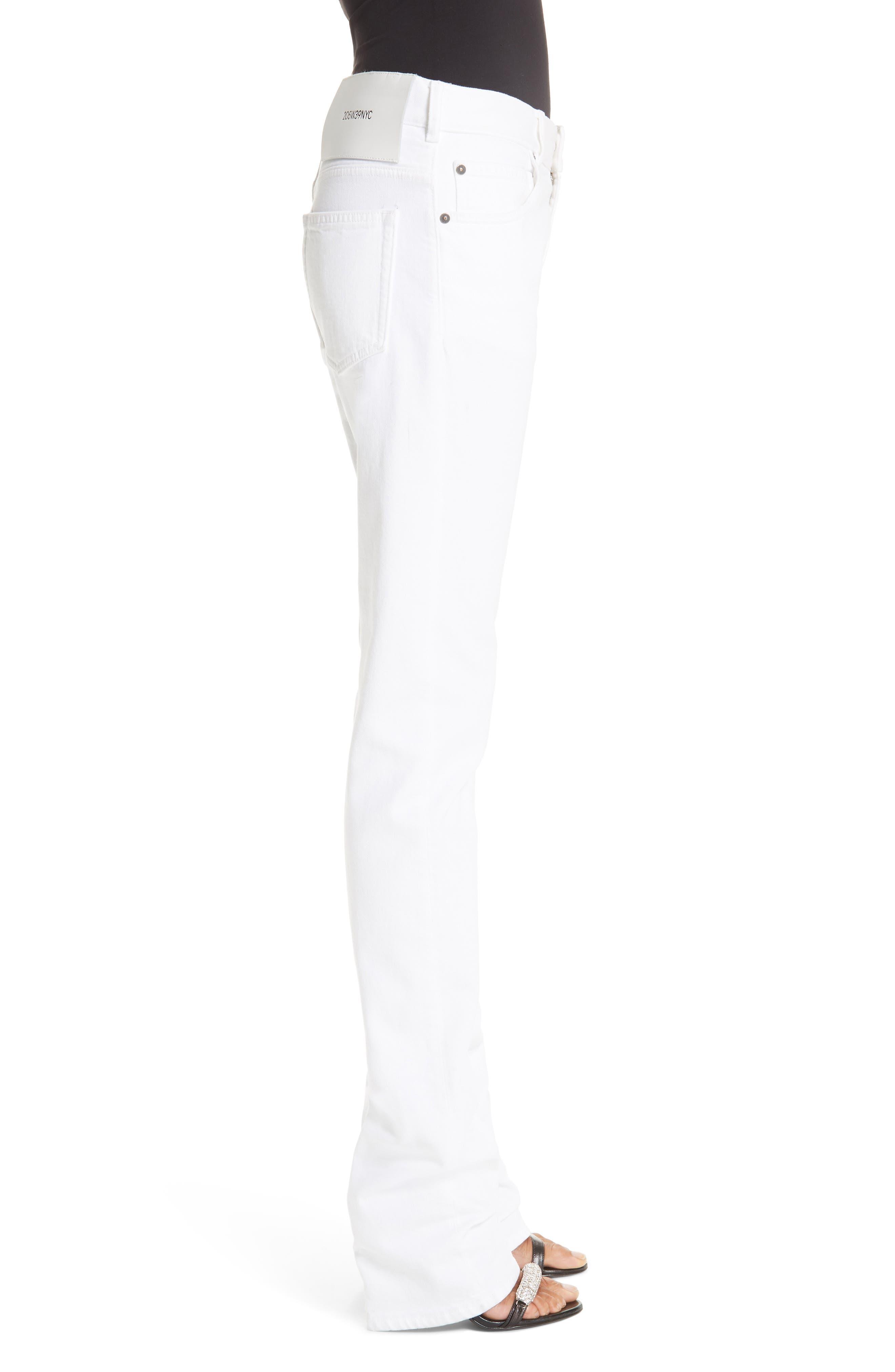 CALVIN KLEIN 205W39NYC, Straight Leg Jeans, Alternate thumbnail 3, color, OPTIC WHITE