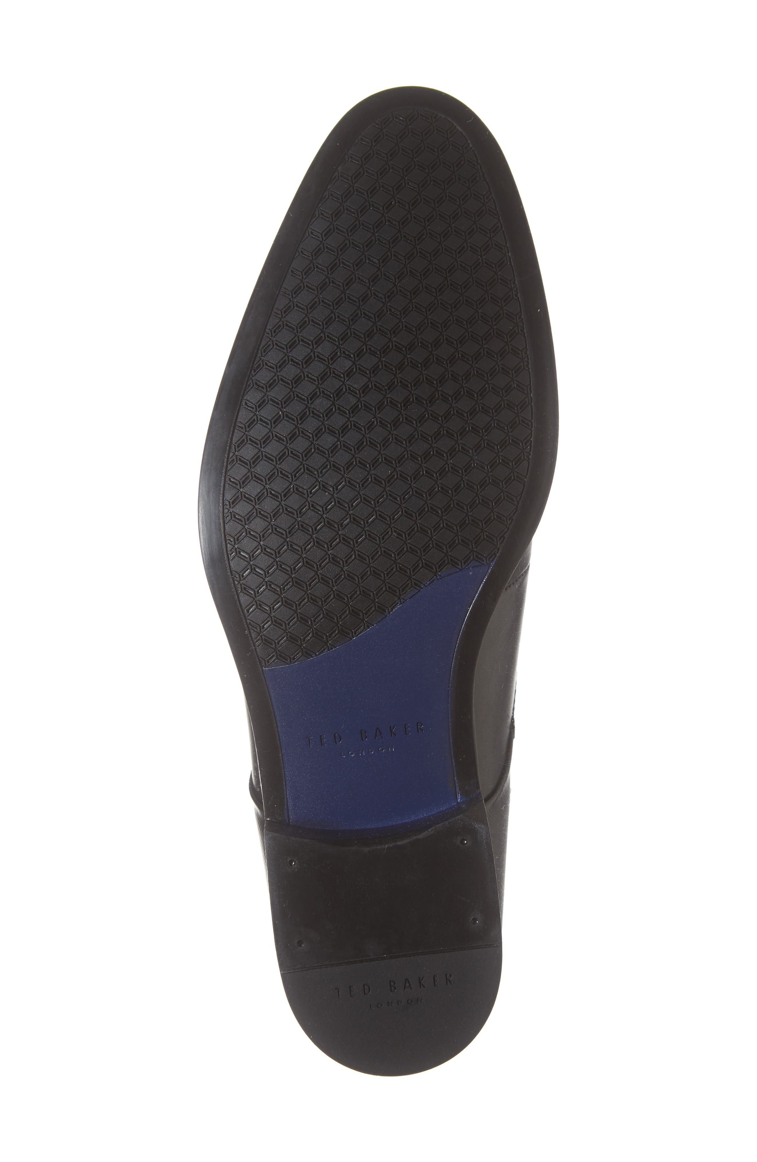 TED BAKER LONDON, Cathon Double Buckle Monk Shoe, Alternate thumbnail 6, color, BLACK LEATHER