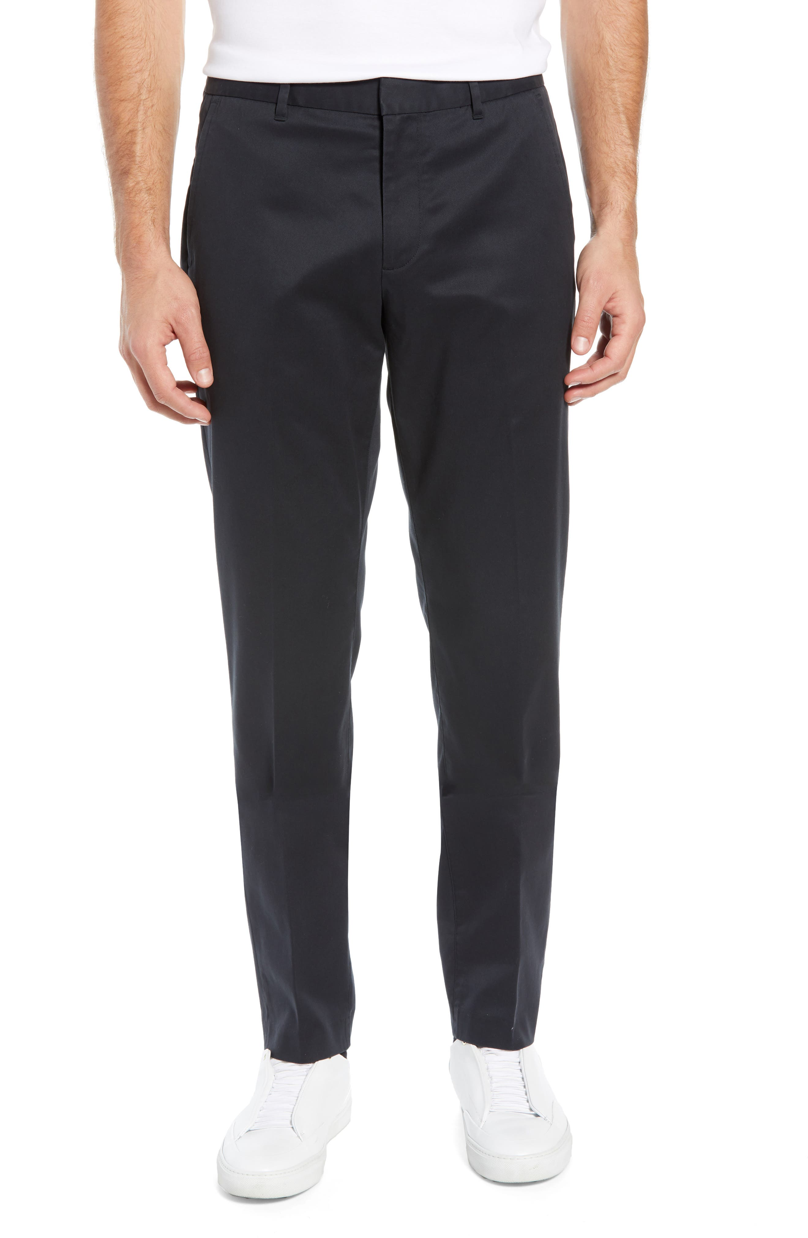 BONOBOS Weekday Warrior Athletic Fit Stretch Dress Pants, Main, color, TUESDAY BLACK
