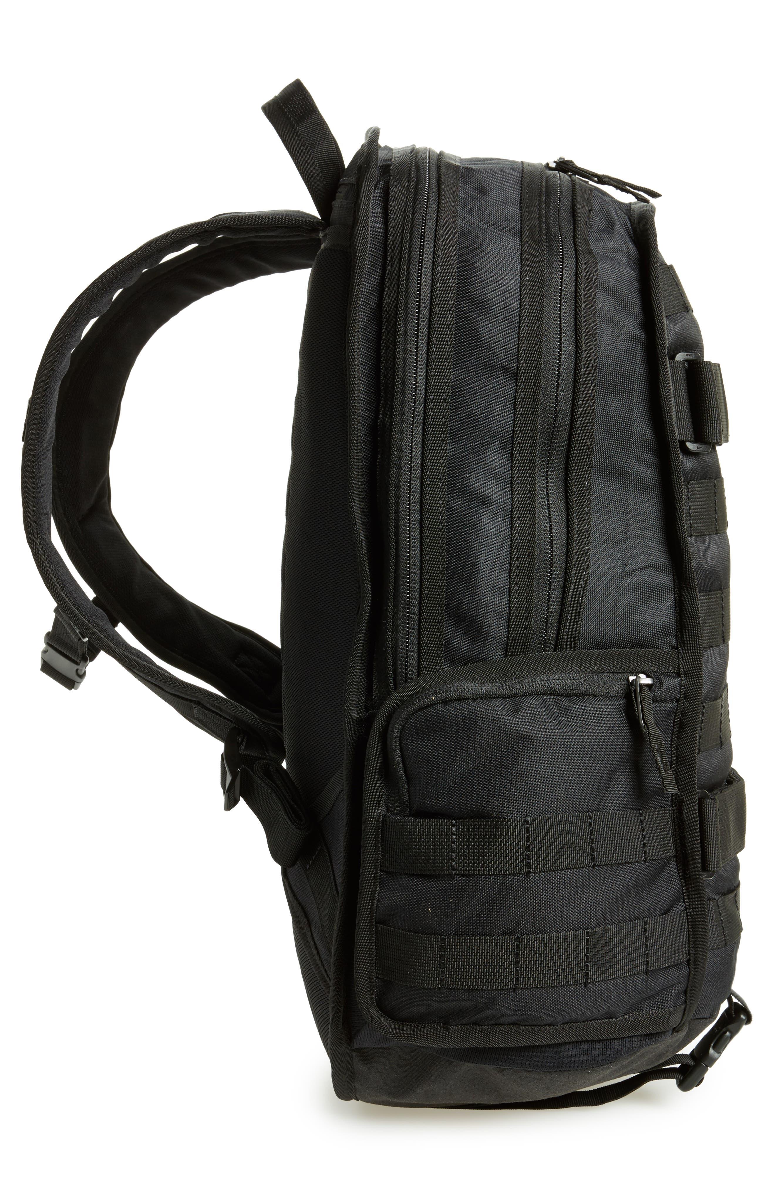 NIKE SB, RPM Backpack, Alternate thumbnail 6, color, BLACK/ BLACK/ BLACK