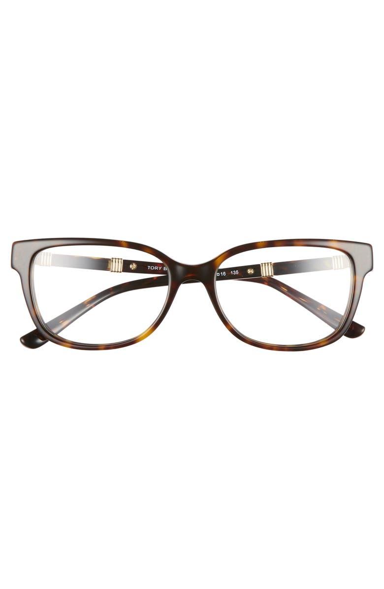 7f7c150a0038 Tory Burch 52Mm Optical Glasses - Dark Tortoise | ModeSens
