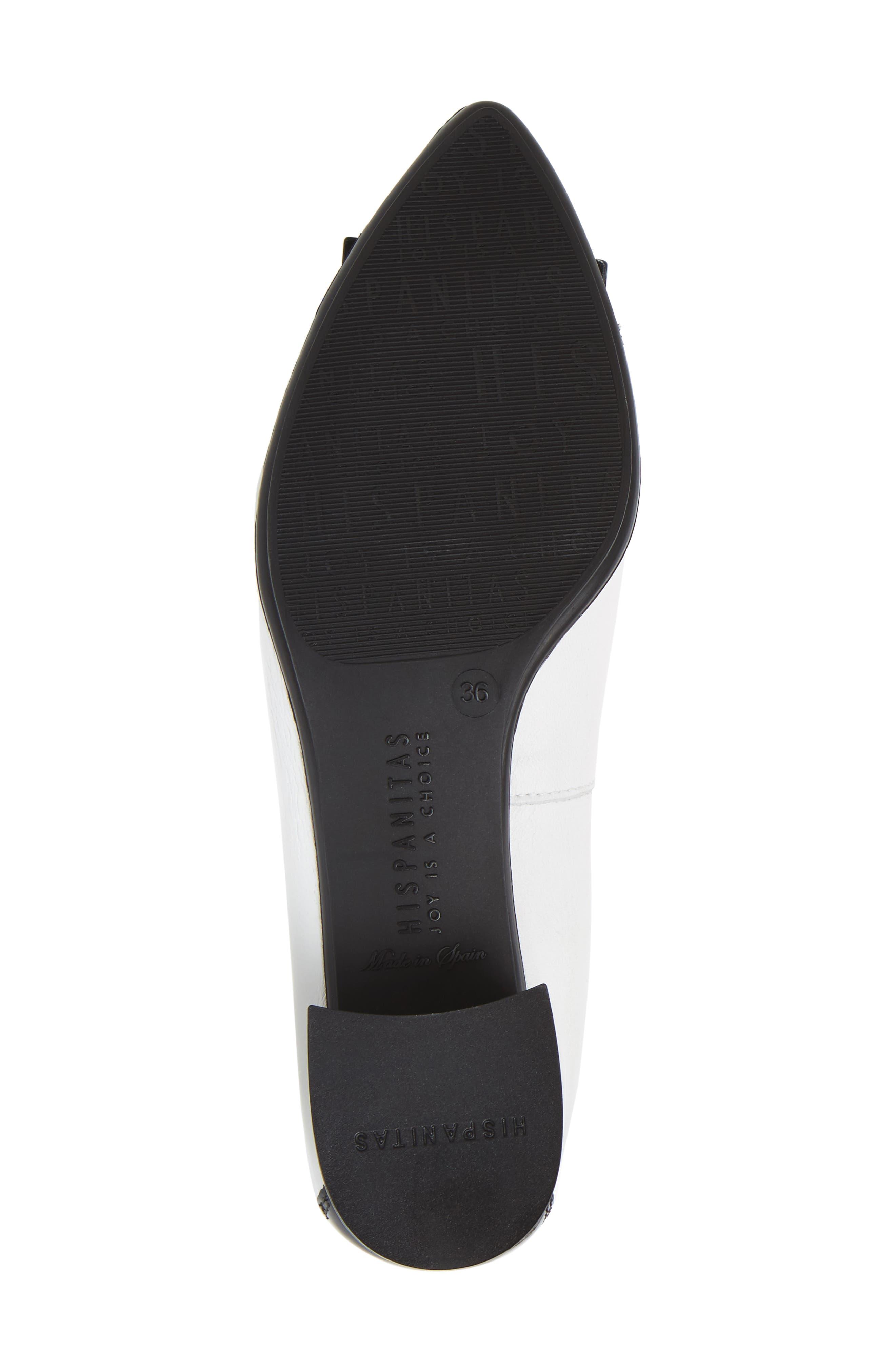 HISPANITAS, 'Omega' Pump, Alternate thumbnail 6, color, BLACK/WHITE LEATHER