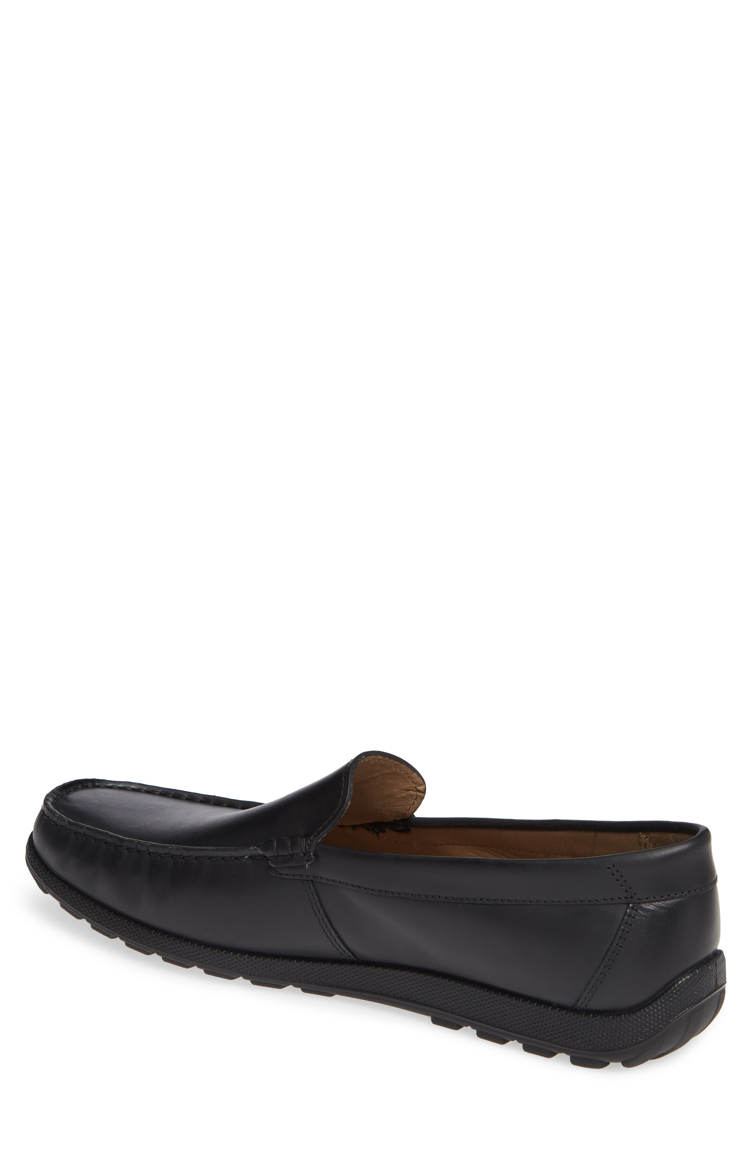 ECCO, Dip Moc Toe Driving Loafer, Alternate thumbnail 2, color, BLACK LEATHER