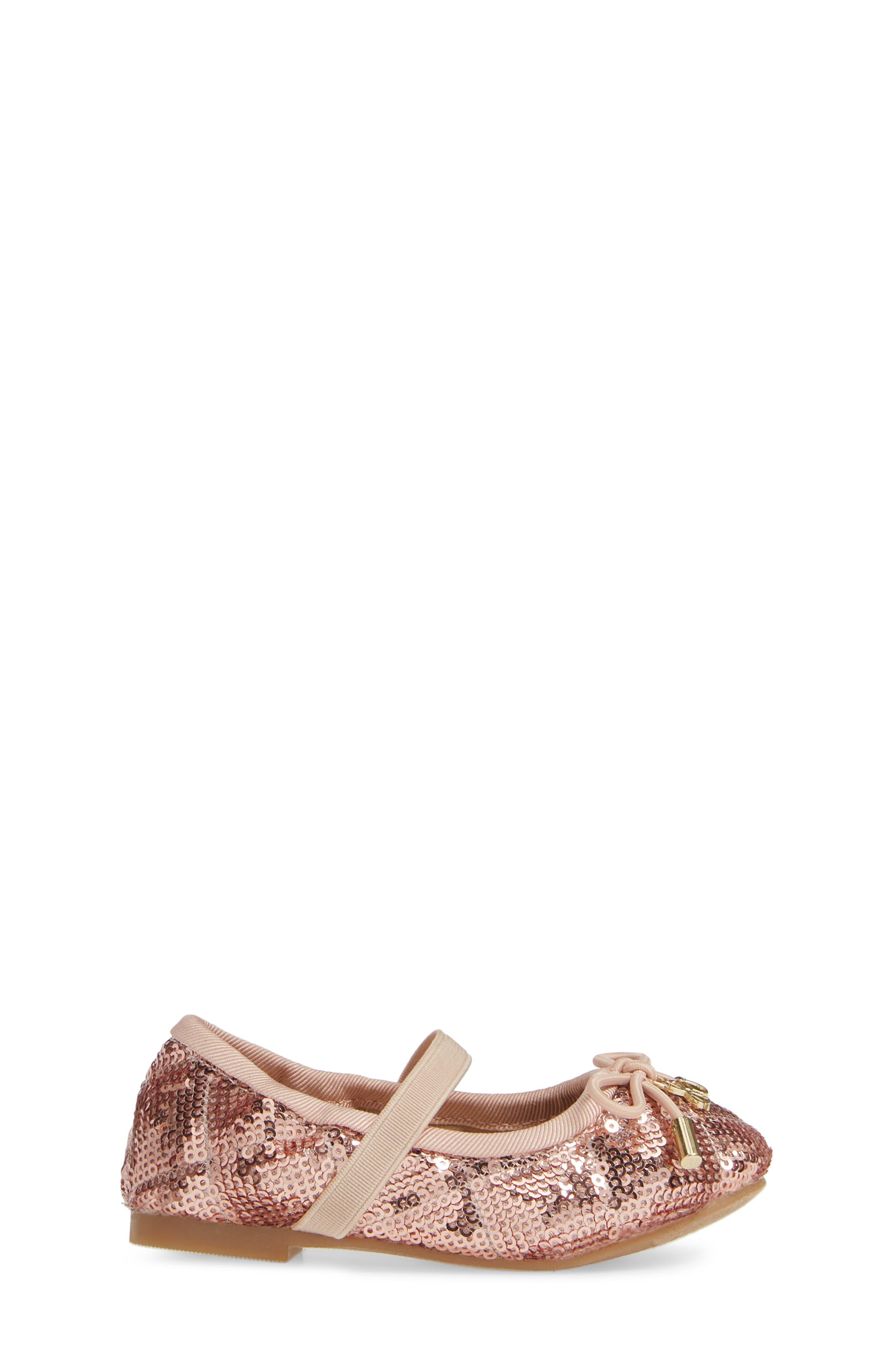 SAM EDELMAN, 'Felicia' Mary Jane Ballet Flat, Alternate thumbnail 3, color, ROSE GOLD