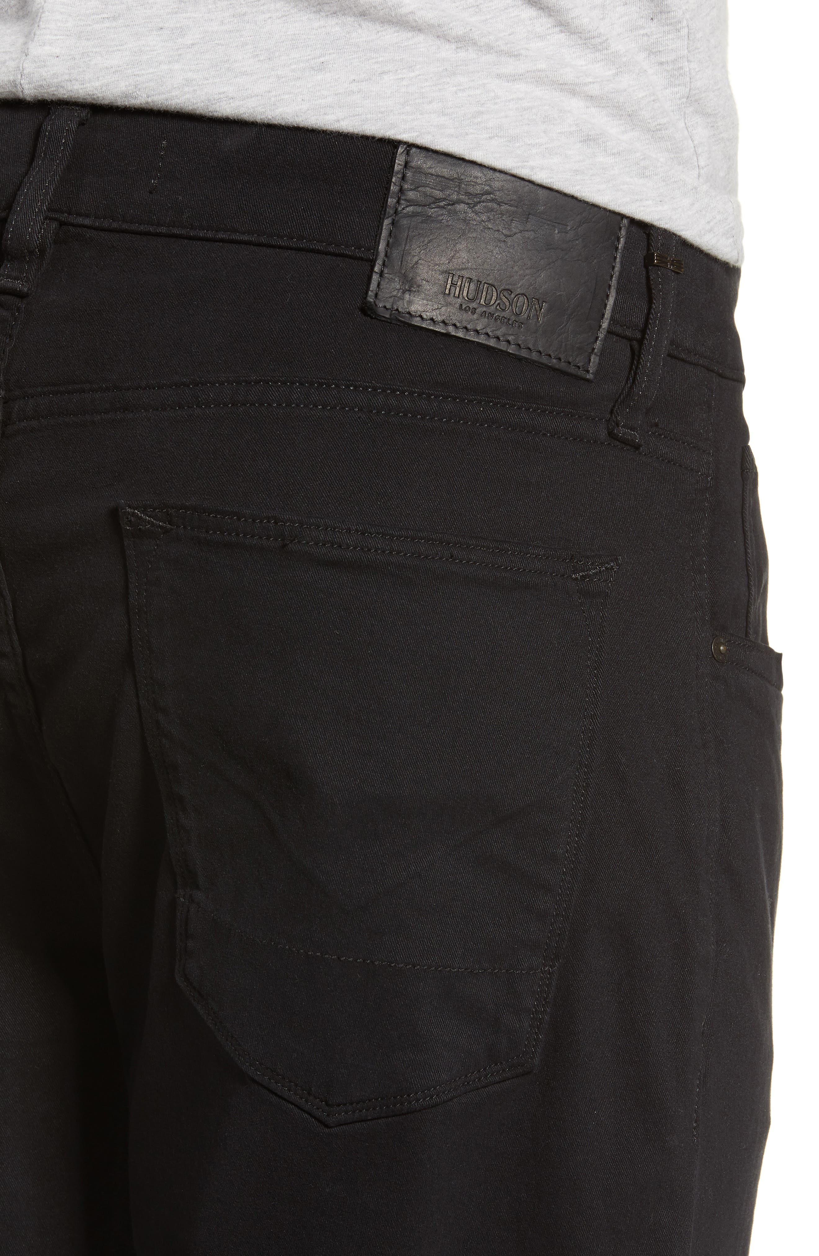 HUDSON JEANS, Blake Slim Fit Jeans, Alternate thumbnail 4, color, BLACK
