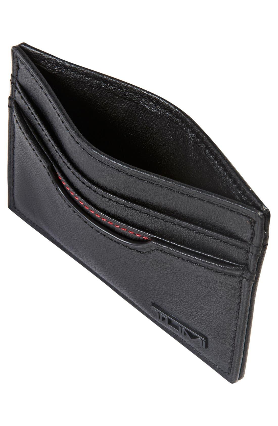 TUMI, Delta - ID Lock<sup>™</sup> Shielded Slim Card Case & ID Wallet, Alternate thumbnail 3, color, BLACK
