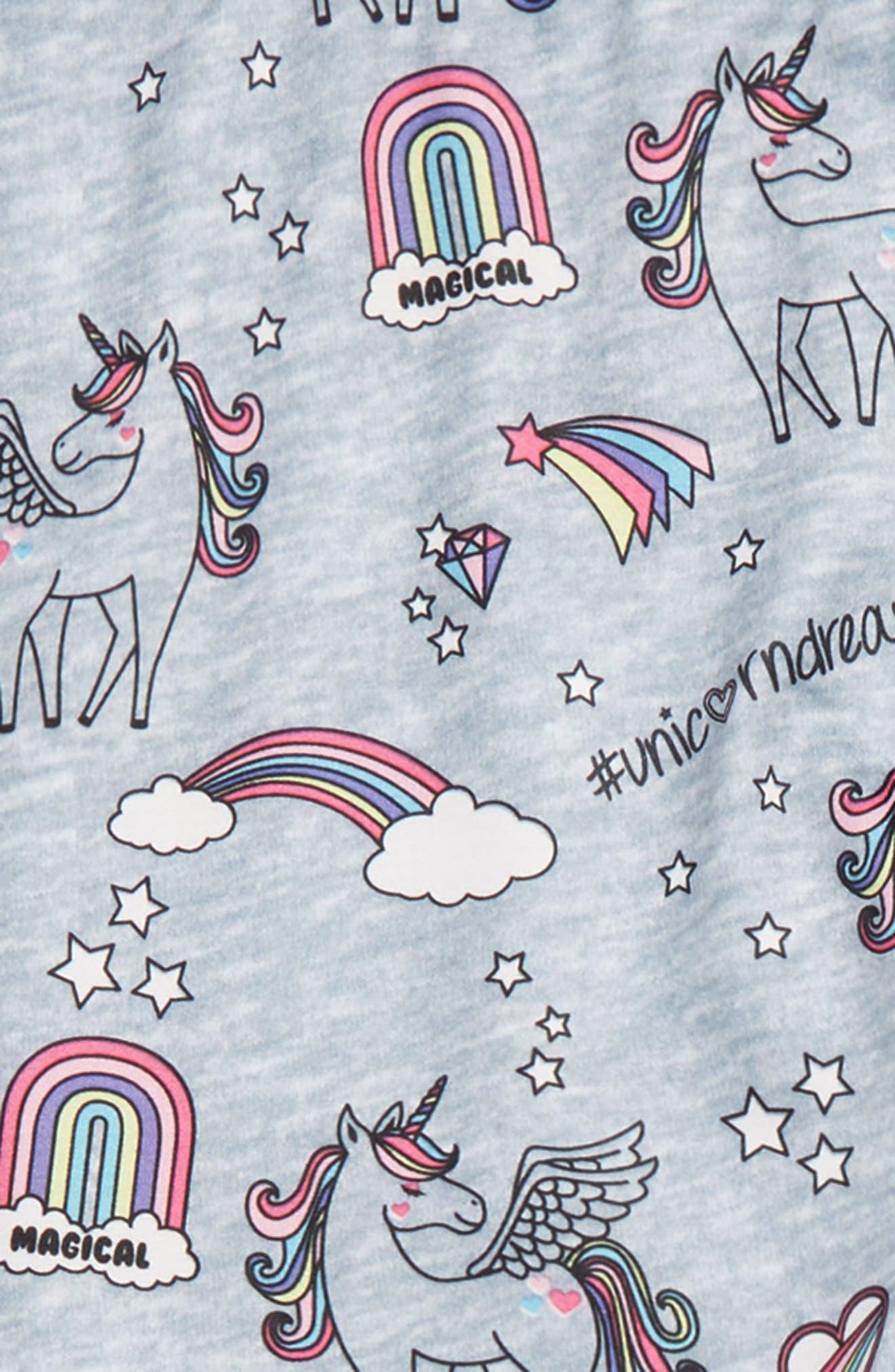 CAPELLI NEW YORK, Magical Unicorn Leggings, Alternate thumbnail 2, color, GREY COMBO