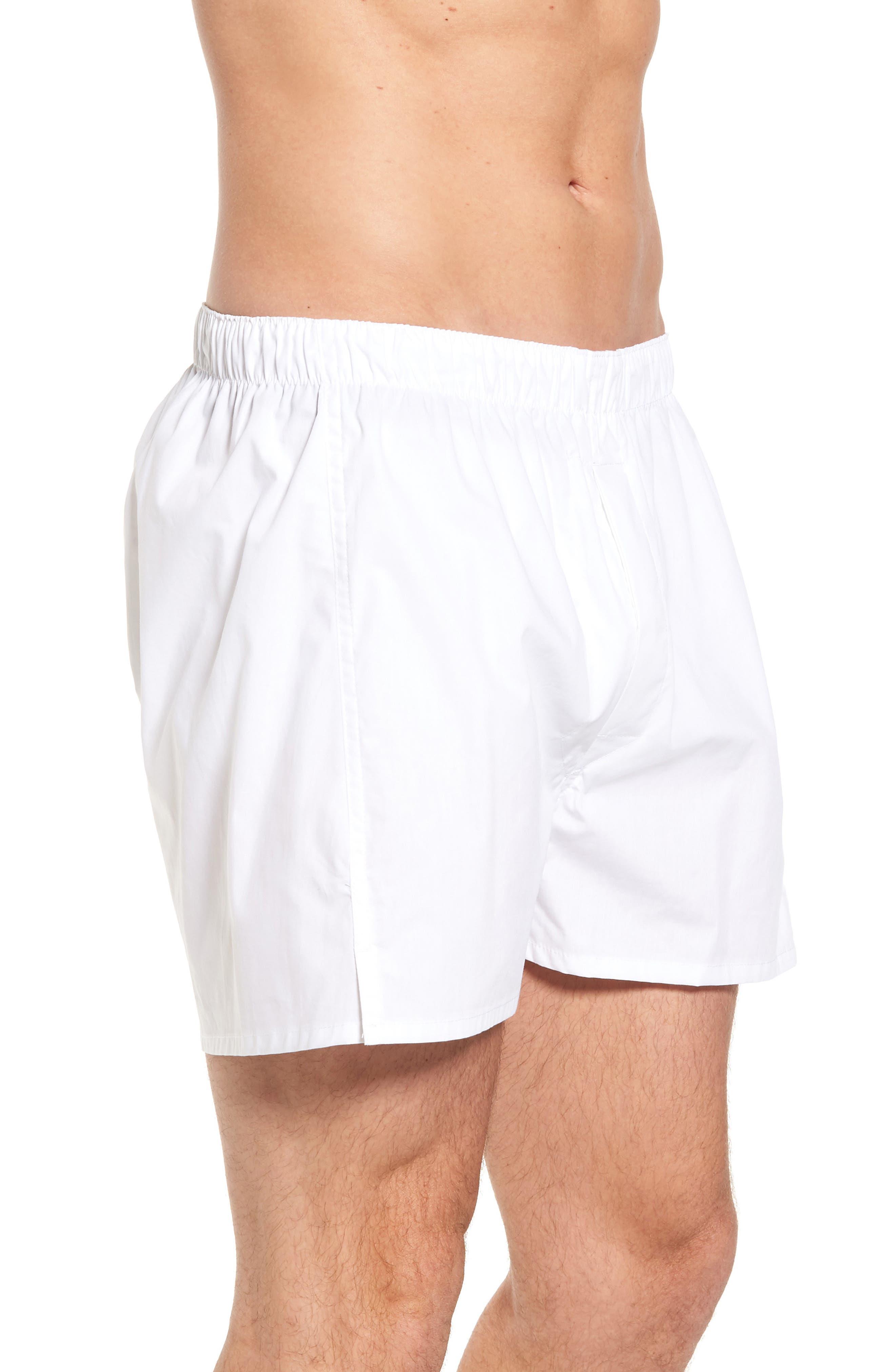 MAJESTIC INTERNATIONAL, Majestic Boxer Shorts, Alternate thumbnail 3, color, WHITE