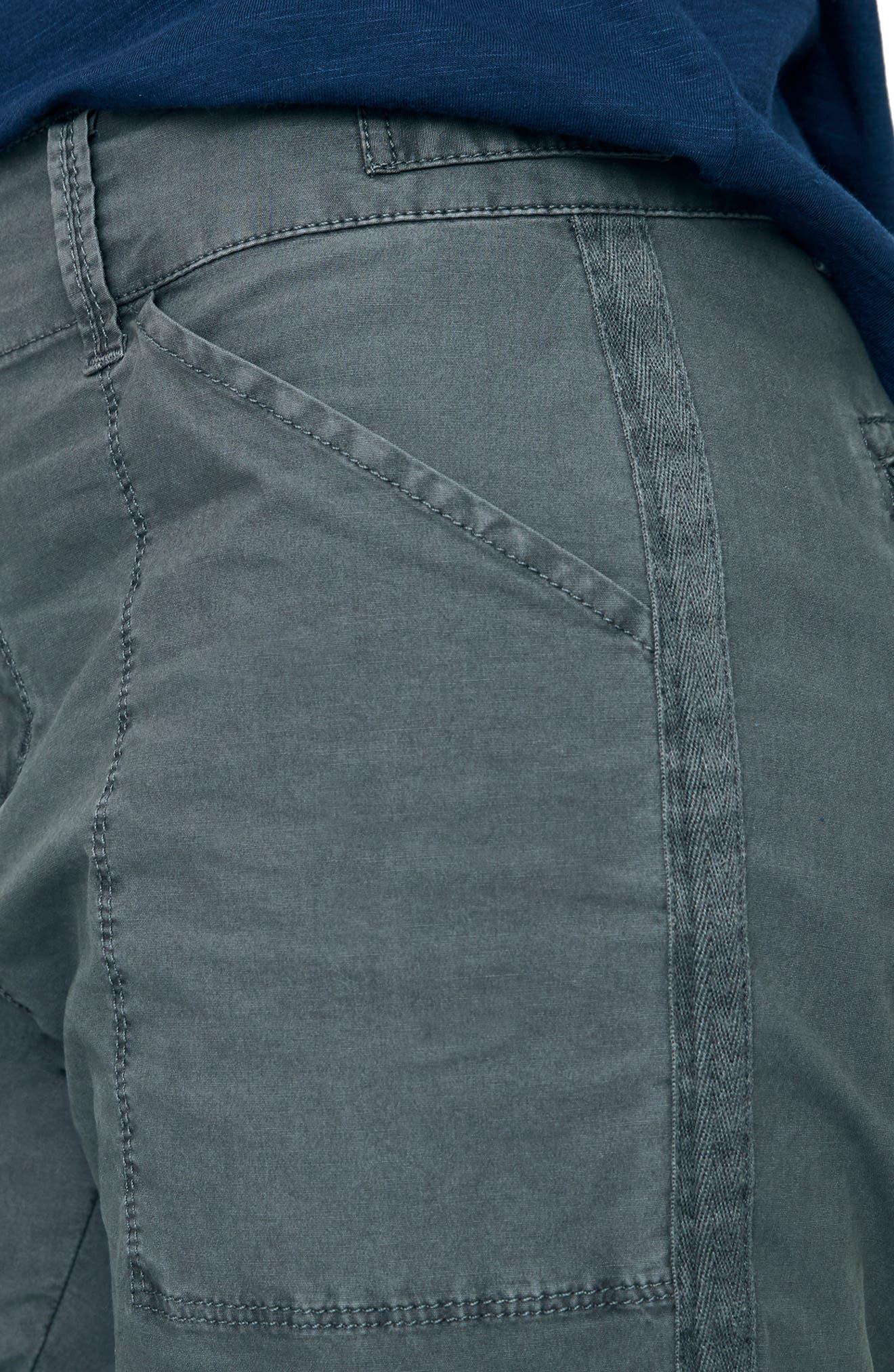 SANCTUARY, Terrain Crop Cargo Pants, Alternate thumbnail 5, color, WASHED FADED BLACK