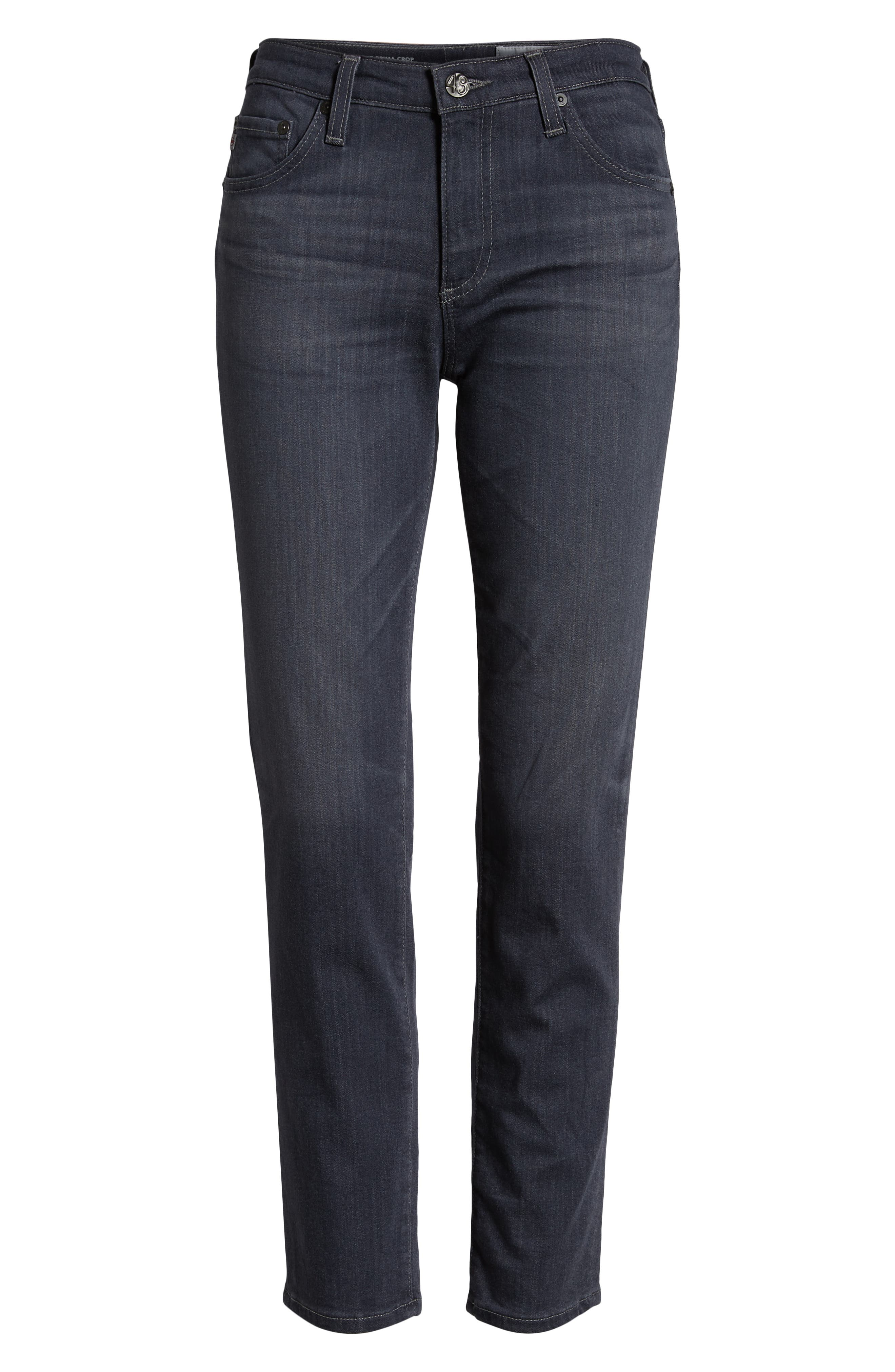 AG, The Prima Crop Cigarette Jeans, Alternate thumbnail 7, color, 08 YEAR SMOKY DUST