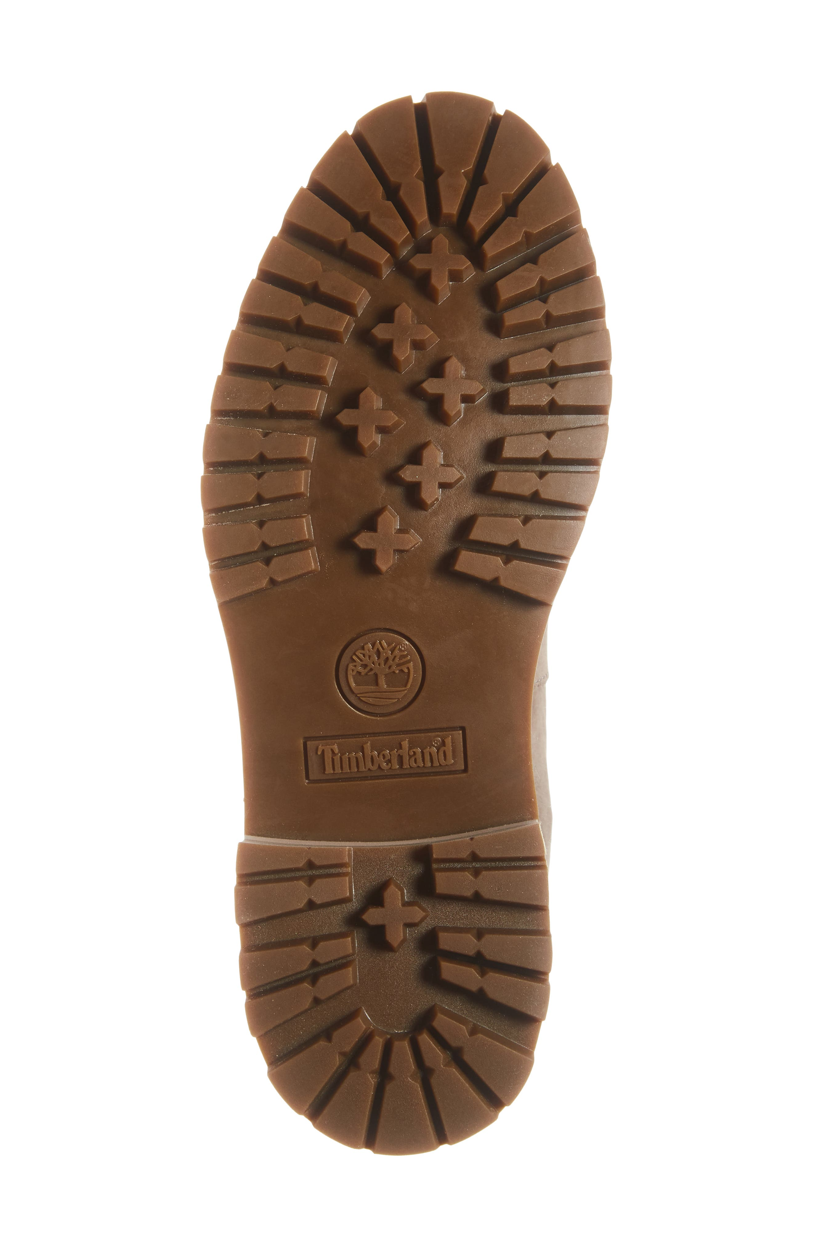 TIMBERLAND, Courmayeur Valley Water Resistant Hiking Boot, Alternate thumbnail 6, color, TAUPE GREY NUBUCK