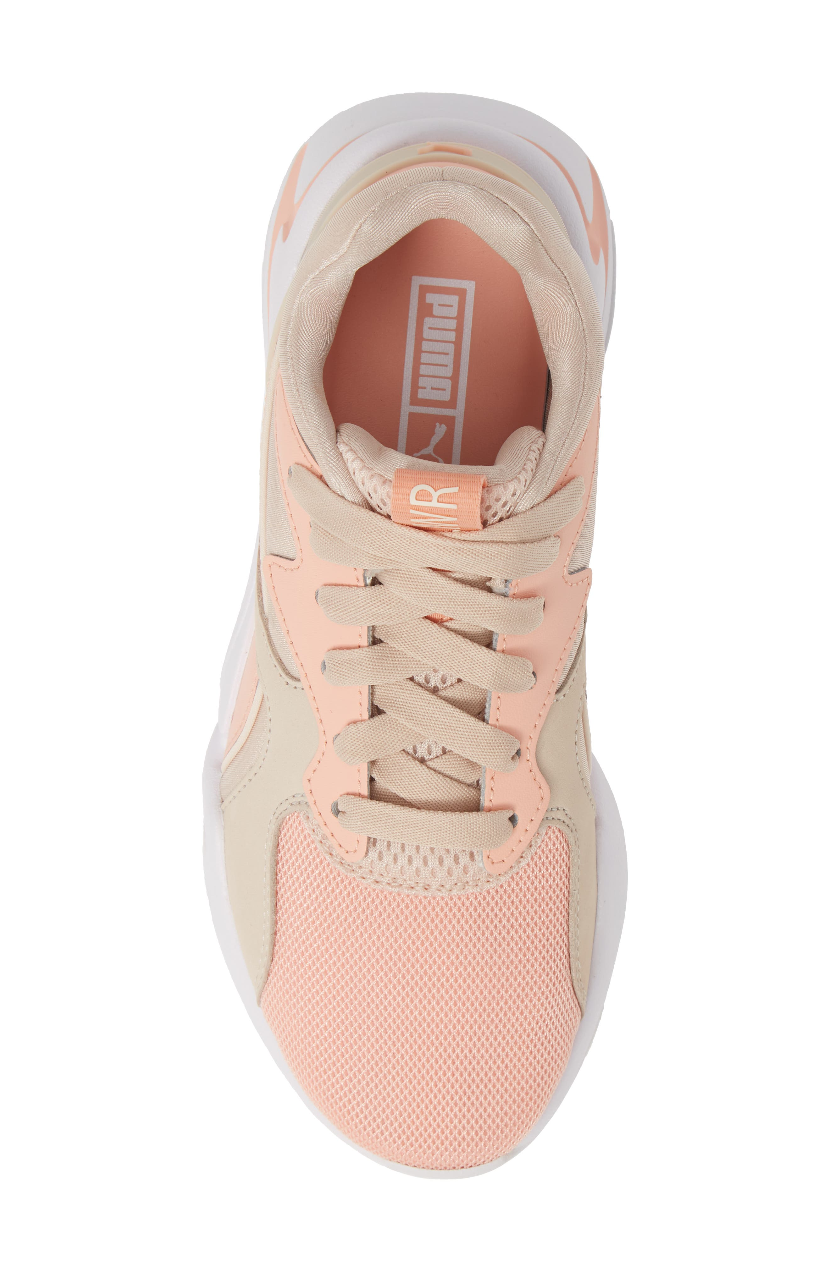 PUMA, Nova GRL PWR Sneaker, Alternate thumbnail 5, color, PEACH BUD/ PEARL BLUSH