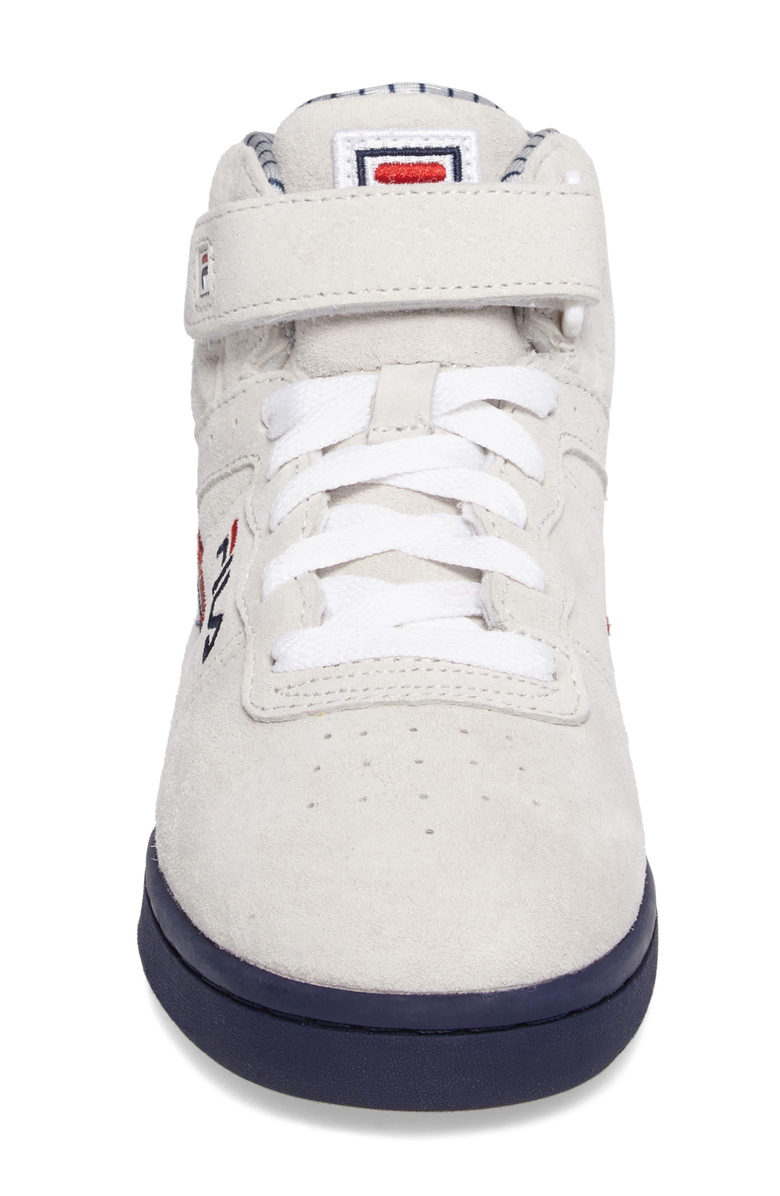FILA, F-13 Mid Pinstripe Sneaker, Alternate thumbnail 4, color, 150