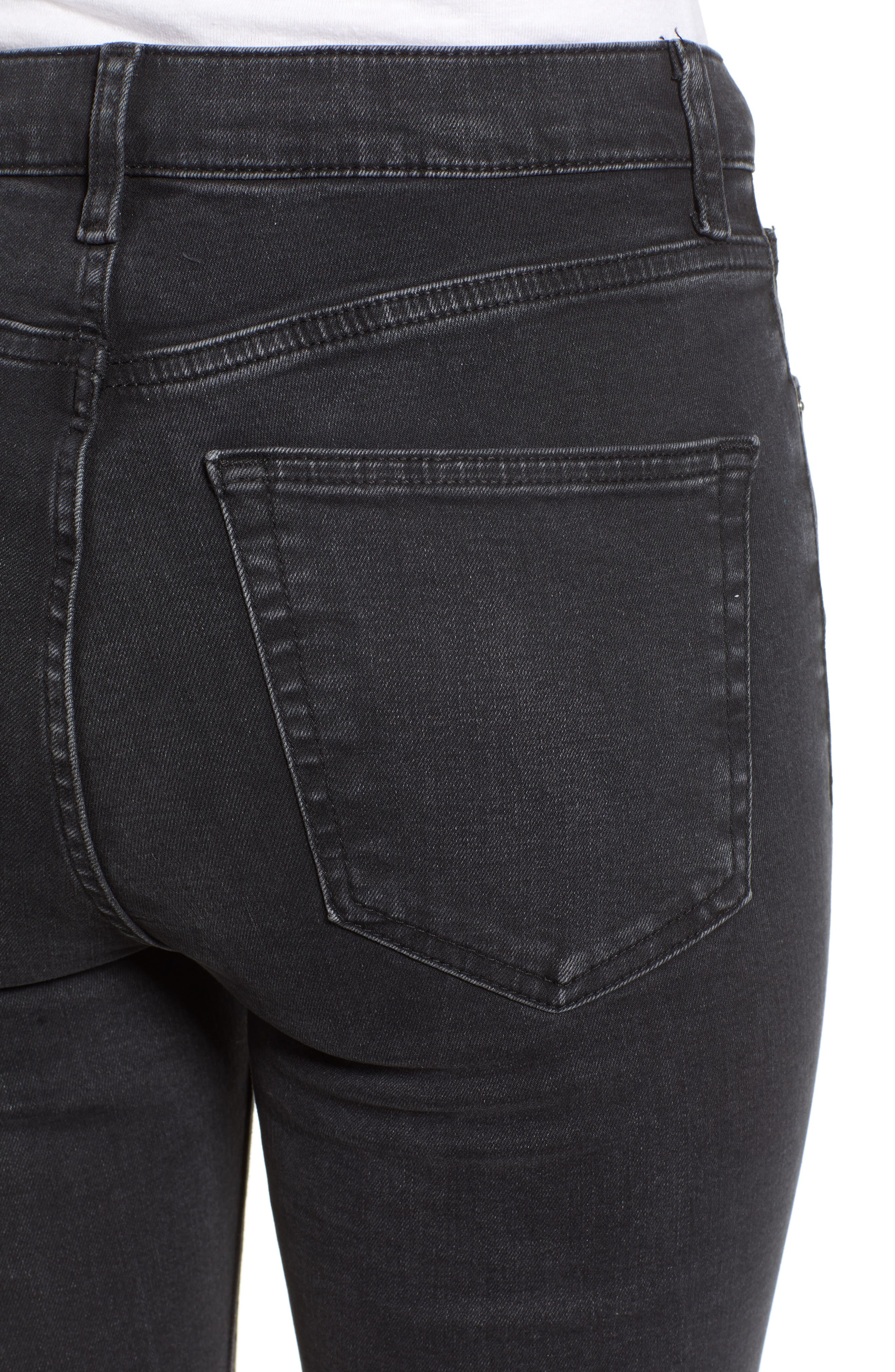 TOPSHOP, Jamie Jeans, Alternate thumbnail 5, color, WASHED BLACK